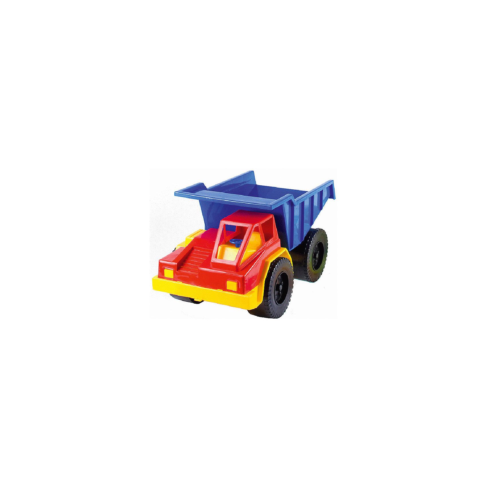 Грузовик карьерный, КАССОНГрузовик карьерный, КАССОН.<br><br>Характеристики:<br><br>- Материал: пластик<br>- Цвет: красный, синий, желтый.<br>- Размер: 450x270x250 мм.<br><br>Такая игрушка, безусловно, привлечет внимание вашего мальчика. Модель выполнена  из яркого безопасного пластика. Игрушка представляет собой модель автомобиля спецтехники. Она выполнена из качественного и безопасного пластика. Колеса машинки имеют свободный ход. Кузове грузовичка поднимается и опускается. С такой игрушкой ваш ребенок сможет придумывать и обыгрывать различные игровые сюжеты. Грузовичок можно брать с собой в песочницу. Порадуйте своего мальчика, подарив ему такую машинку!<br><br>Грузовик карьерный, КАССОН можно купить в нашем интернет - магазине.<br><br>Ширина мм: 300<br>Глубина мм: 300<br>Высота мм: 300<br>Вес г: 400<br>Возраст от месяцев: 36<br>Возраст до месяцев: 84<br>Пол: Мужской<br>Возраст: Детский<br>SKU: 4785515