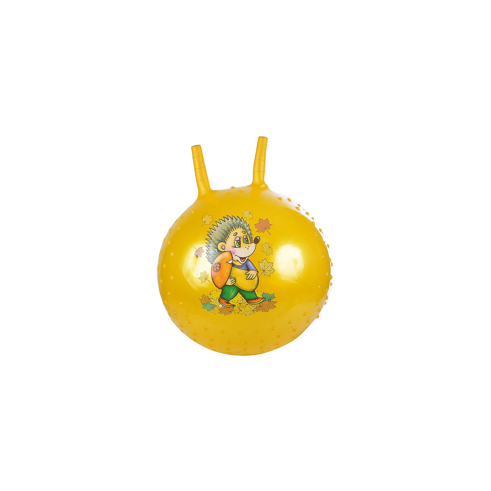 Надувной мяч Ежик, с насосом, 38см, желтый, SPRINGМяч попрыгун с рожками, желтый с изображением Ежика.<br><br>Ширина мм: 380<br>Глубина мм: 380<br>Высота мм: 380<br>Вес г: 380<br>Возраст от месяцев: 36<br>Возраст до месяцев: 120<br>Пол: Унисекс<br>Возраст: Детский<br>SKU: 4785522