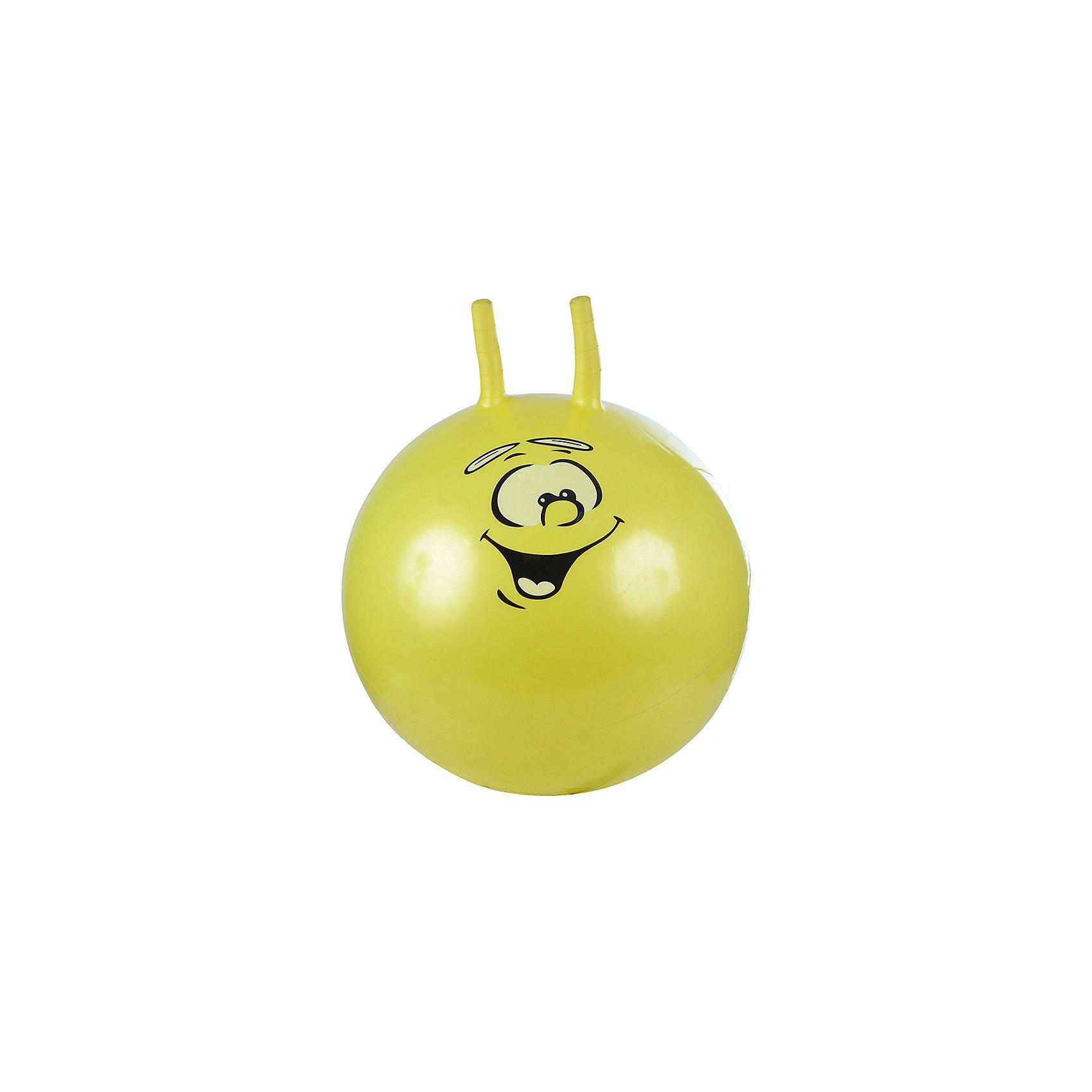 Надувной мяч Смайлик, 55см, желтый, SPRING<br><br>Ширина мм: 550<br>Глубина мм: 550<br>Высота мм: 550<br>Вес г: 600<br>Возраст от месяцев: 36<br>Возраст до месяцев: 120<br>Пол: Унисекс<br>Возраст: Детский<br>SKU: 4785524