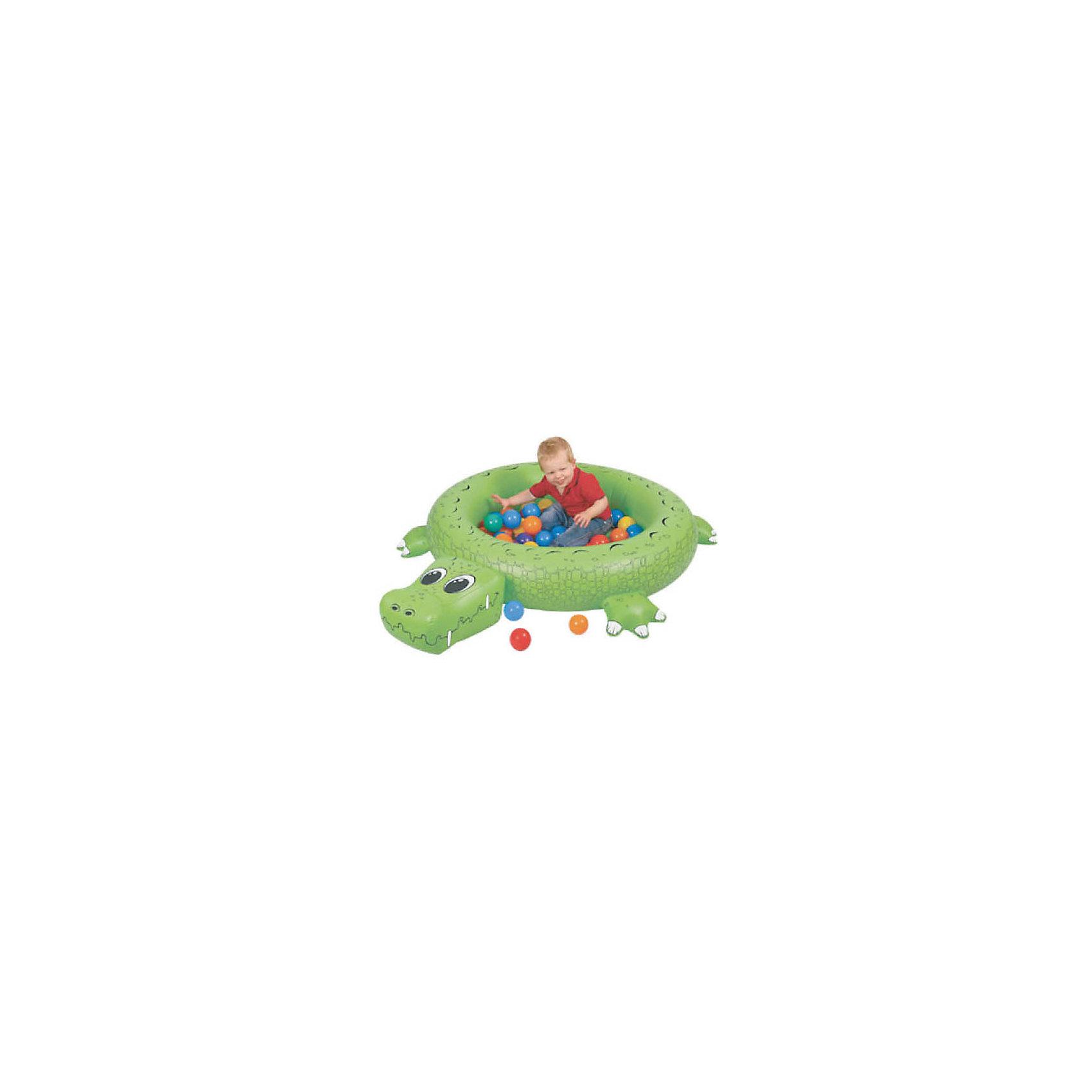 Сухой надувной бассейн Крокодил, UprightСухой надувной бассейн «Крокодил» с множеством шариков  (50 шт) подходит как для игр в помещении, так и для отдыха детей на даче и за городом Возраст:9+ месяцев<br>Размер: 135х107х23h см<br><br>Ширина мм: 1350<br>Глубина мм: 1070<br>Высота мм: 230<br>Вес г: 1000<br>Возраст от месяцев: 24<br>Возраст до месяцев: 84<br>Пол: Унисекс<br>Возраст: Детский<br>SKU: 4785529