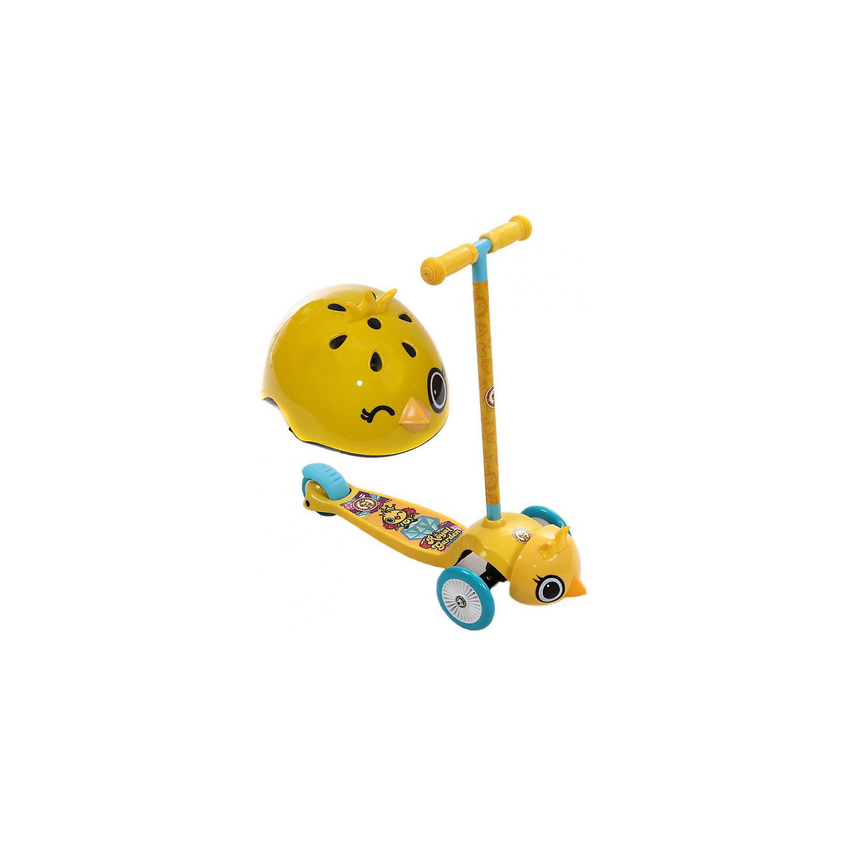 Самокат трехколесный Цыпленок Янни, желтый, REXCO