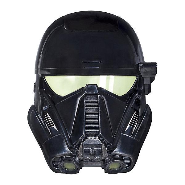 Электронная маска Hasbro Star Wars, Маска штурмовикаДругие наборы<br>С этой электронной маской дети могут перевоплотиться в их любимых героев вселенной Звездных войн! Электронные эффекты позволяют детям ощутить себя одним из главных героев нового фильма саги.<br><br>Ширина мм: 280<br>Глубина мм: 220<br>Высота мм: 124<br>Вес г: 645<br>Возраст от месяцев: 48<br>Возраст до месяцев: 96<br>Пол: Мужской<br>Возраст: Детский<br>SKU: 4785973