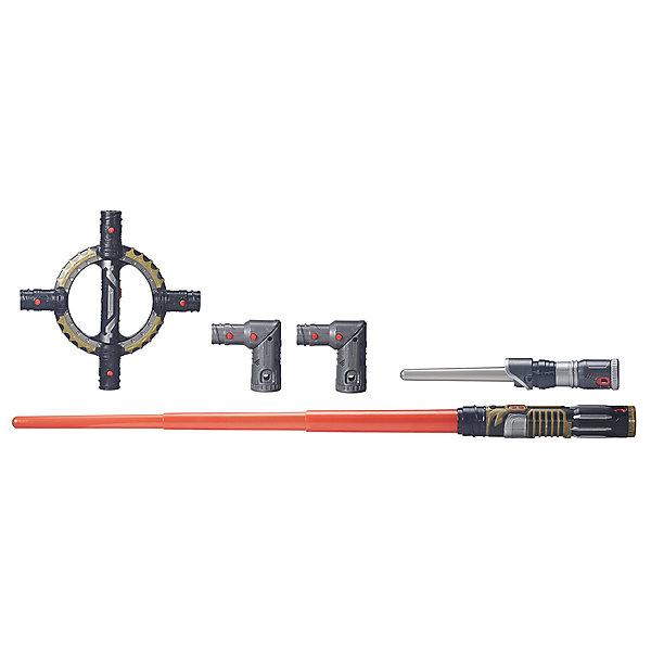 Вращающися световой меч Hasbro Star WarsИгрушечные мечи и щиты<br>Лазерный меч является главным оружием для джедаев и ситхов во всей Галактике. Юные падаваны будут в восторге от захватывающего процесса игры с этим мечом, благодаря светящемуся лезвию, реалистичным звуковым эффектам движения и сражения и дополнительным аксессуарам. Совместим со всеми мечами серии  Bladebuilders<br>Ширина мм: 610; Глубина мм: 309; Высота мм: 58; Вес г: 1004; Возраст от месяцев: 48; Возраст до месяцев: 96; Пол: Мужской; Возраст: Детский; SKU: 4785975;
