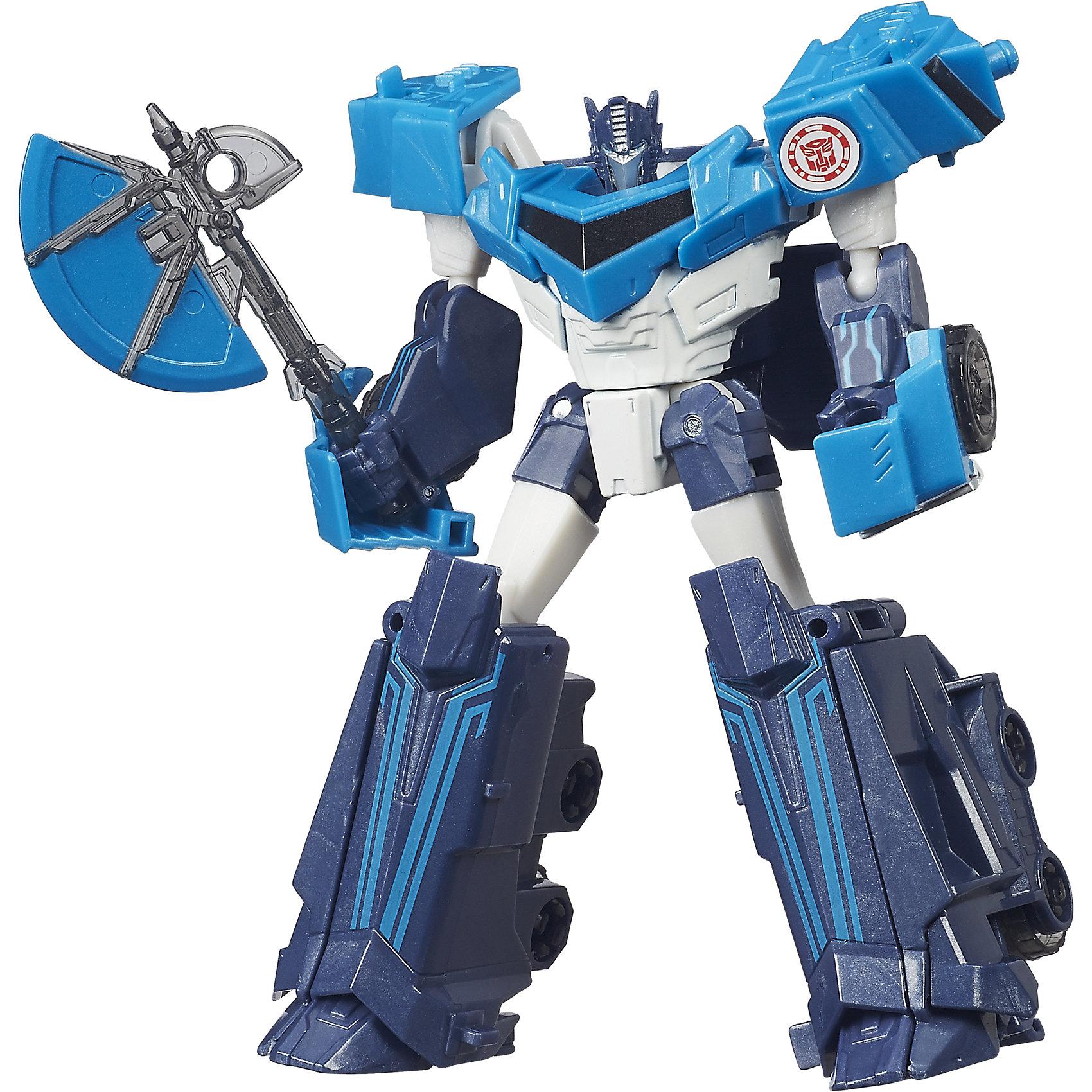 Оптимус, Роботс-ин-Дисгайс, ТрансформерыОптимус, Роботс-ин-Дисгайс, Трансформеры - игрушка, которая наверняка понарвится всем поклонникам мультфильма.<br><br>Оптимус может трансформироваться в автомашину. Красивая броня робота, лицо и глаза придают ему устрашения. Конечно же он вооружен, в руке он держит свой молот, которым он может превращать врагов в металл. Для трансформации ребенку не надо прилагать никаких усилий, все детали легко передвигаются. У робота 10 шагов трансформации. Если вы думаете, что подарить мальчику, то робот-транформер именно то, что вам нужно. Ребенок будет невероятно рад подобной игрушке, с которой сможет проводить в игре много времени. Робот достаточно компактен и его всегда можно взять с собой на прогулку или в любое путешествие. Трансформер очень подвижен и может принимать разные позы. Каждая деталь проработана до мелочей и выполнена их безопасного для детей материала.<br><br>Оптимус, Роботс-ин-Дисгайс, Трансформеры можно купить в нашем интернет-магазине.<br><br>Ширина мм: 256<br>Глубина мм: 167<br>Высота мм: 68<br>Вес г: 169<br>Возраст от месяцев: 72<br>Возраст до месяцев: 120<br>Пол: Мужской<br>Возраст: Детский<br>SKU: 4786001