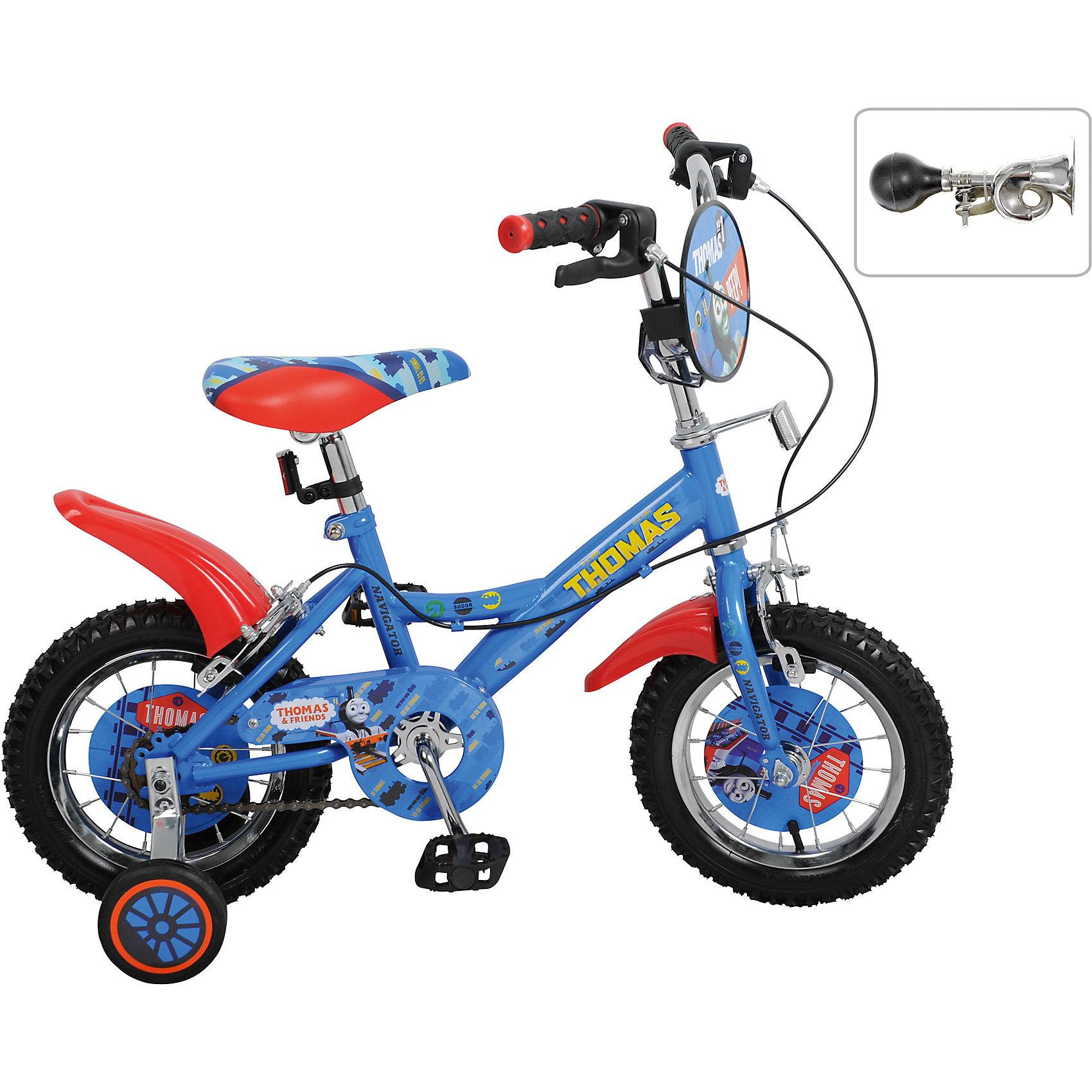 Велосипед Navigator, 12 дюймов, Томас и его друзьяВелосипеды детские<br>Детский велосипед с ярким дизайном и популярной лицензией Томас и его друзья. Широкие страховочные колёса, односоставной шатун, вставки в колесах, пластиковые крылья, щиток на руле, клаксон, передний и задний ручной тормоз.<br><br>Ширина мм: 720<br>Глубина мм: 330<br>Высота мм: 170<br>Вес г: 8900<br>Возраст от месяцев: 36<br>Возраст до месяцев: 84<br>Пол: Мужской<br>Возраст: Детский<br>SKU: 4786129