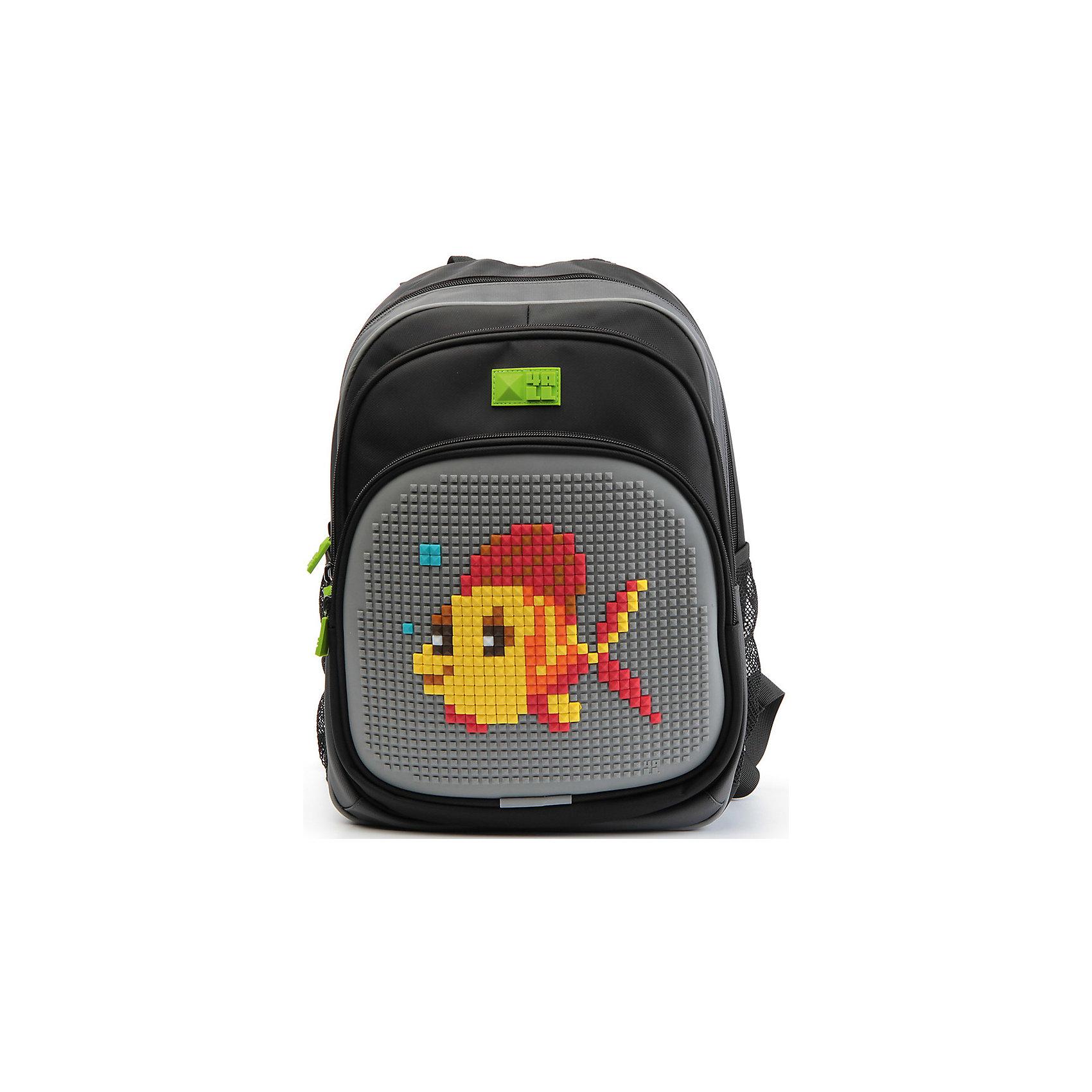 4ALL Рюкзак Kids, черно-серыйРюкзаки<br>Рюкзак KIDS - это одновременно и яркий, функциональный школьный аксессуар, и безграничная площадка для самовыражения, способная подчеркнуть любой выбранный образ. С помощью уникальной силиконовой панели и набора пластиковых пикселей-битов можно декорировать фасад рюкзака, как угодно, полагаясь на свое воображение и вкус. А все материалы, задействованные при изготовлении, имеют специальную вода- и грязеотталкивающую пропитку, что гарантирует практичность, износостойкость и долговечность рюкзака.<br><br>Такой современный и интересный ранец будет прекрасным подарком к 1 сентября!<br><br>Особенности:<br>AIR COMFORT system:<br>- Система свободной циркуляции воздуха между задней стенкой рюкзака и спиной ребенка.<br>- Совместно с ортопедической спиной ERGO system эта система воздухообмена делает ежедневное использование рюкзаков KIDS безопасным для здоровья и максимально комфортным!<br>ERGO system:<br>- Разработанная нами система ERGO служит равномерному распределению нагрузки на спину ребенка. Она способна сделать рюкзак, наполненный учебниками, легким. ERGO служит сохранению правильной осанки и заботится о здоровье позвоночника!<br>Ортопедическая спина:<br>- Важное свойство наших рюкзаков - ортопедическая спина! Способна как корсет поддерживать позвоночник, правильно распределяя нагрузку, а так же обеспечивает циркуляцию воздуха между задней стенкой рюкзака и спиной ребенка!<br>А также:<br>- Гипоаллергенный силикон;<br>- Водоотталкивающие материалы;<br>- Устойчивость всех материалов к температурам воздуха ниже 0!<br><br>Дополнительная информация:<br><br>- Рюкзак уже содержит 1 упаковку разноцветных пикселей-битов (300 шт.) для создания картинок<br>- Цвет: серый;<br>- Объем рюкзака: 22 л.<br>- Размер в упаковке: 39х27х15 см.<br>- Вес в упаковке: 950 г.<br><br>Рюкзак Kids в сине-зеленом  цвете , можно купить в нашем магазине.<br><br>Ширина мм: 390<br>Глубина мм: 270<br>Высота мм: 150<br>Вес г: 950<br>Возраст от месяцев: 36<br>Возраст