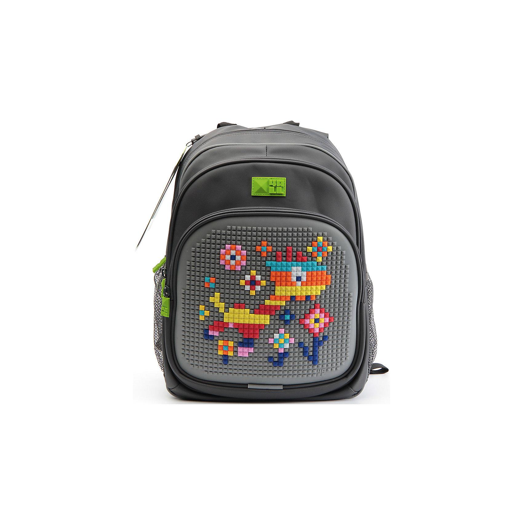 4ALL Рюкзак Kids, серыйРюкзаки<br>Рюкзак KIDS - это одновременно и яркий, функциональный школьный аксессуар, и безграничная площадка для самовыражения, способная подчеркнуть любой выбранный образ. С помощью уникальной силиконовой панели и набора пластиковых пикселей-битов можно декорировать фасад рюкзака, как угодно, полагаясь на свое воображение и вкус. А все материалы, задействованные при изготовлении, имеют специальную вода- и грязеотталкивающую пропитку, что гарантирует практичность, износостойкость и долговечность рюкзака.<br><br>Такой современный и интересный ранец будет прекрасным подарком к 1 сентября!<br><br>Особенности:<br>AIR COMFORT system:<br>- Система свободной циркуляции воздуха между задней стенкой рюкзака и спиной ребенка.<br>- Совместно с ортопедической спиной ERGO system эта система воздухообмена делает ежедневное использование рюкзаков KIDS безопасным для здоровья и максимально комфортным!<br>ERGO system:<br>- Разработанная нами система ERGO служит равномерному распределению нагрузки на спину ребенка. Она способна сделать рюкзак, наполненный учебниками, легким. ERGO служит сохранению правильной осанки и заботится о здоровье позвоночника!<br>Ортопедическая спина:<br>- Важное свойство наших рюкзаков - ортопедическая спина! Способна как корсет поддерживать позвоночник, правильно распределяя нагрузку, а так же обеспечивает циркуляцию воздуха между задней стенкой рюкзака и спиной ребенка!<br>А также:<br>- Гипоаллергенный силикон;<br>- Водоотталкивающие материалы;<br>- Устойчивость всех материалов к температурам воздуха ниже 0!<br><br>Дополнительная информация:<br><br>- Рюкзак уже содержит 1 упаковку разноцветных пикселей-битов (300 шт.) для создания картинок<br>- Цвет: серый;<br>- Объем рюкзака: 22 л.<br>- Размер в упаковке: 39х27х15 см.<br>- Вес в упаковке: 950 г.<br><br>Рюкзак Kids в сером цвете , можно купить в нашем магазине.<br><br>Ширина мм: 390<br>Глубина мм: 270<br>Высота мм: 150<br>Вес г: 950<br>Возраст от месяцев: 36<br>Возраст до месяцев: 1