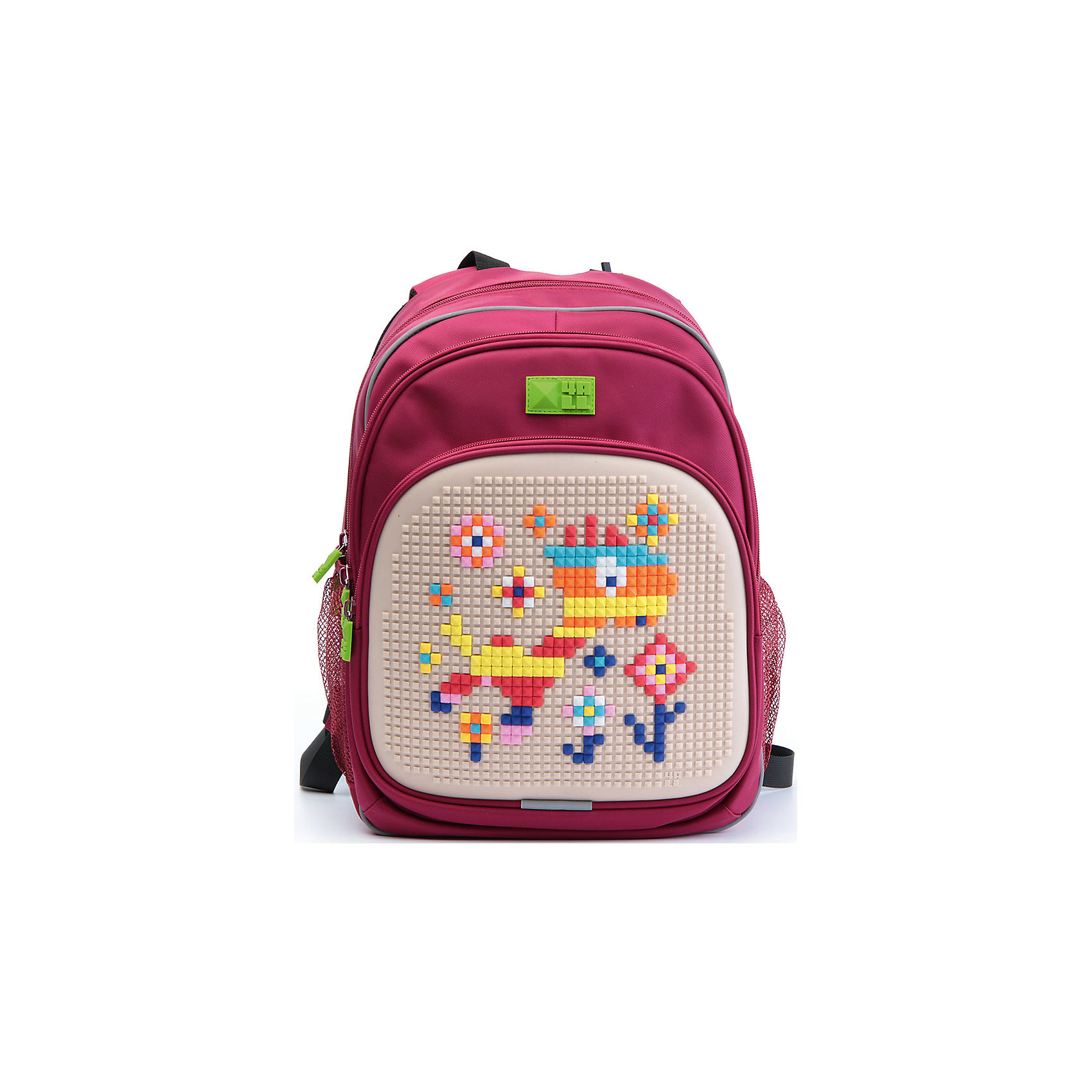 4ALL Рюкзак Kids, красныйРюкзаки<br>Рюкзак KIDS - это одновременно и яркий, функциональный школьный аксессуар, и безграничная площадка для самовыражения, способная подчеркнуть любой выбранный образ. С помощью уникальной силиконовой панели и набора пластиковых пикселей-битов можно декорировать фасад рюкзака, как угодно, полагаясь на свое воображение и вкус. А все материалы, задействованные при изготовлении, имеют специальную вода- и грязеотталкивающую пропитку, что гарантирует практичность, износостойкость и долговечность рюкзака.<br><br>Такой современный и интересный ранец будет прекрасным подарком к 1 сентября!<br><br>Особенности:<br>AIR COMFORT system:<br>- Система свободной циркуляции воздуха между задней стенкой рюкзака и спиной ребенка.<br>- Совместно с ортопедической спиной ERGO system эта система воздухообмена делает ежедневное использование рюкзаков KIDS безопасным для здоровья и максимально комфортным!<br>ERGO system:<br>- Разработанная нами система ERGO служит равномерному распределению нагрузки на спину ребенка. Она способна сделать рюкзак, наполненный учебниками, легким. ERGO служит сохранению правильной осанки и заботится о здоровье позвоночника!<br>Ортопедическая спина:<br>- Важное свойство наших рюкзаков - ортопедическая спина! Способна как корсет поддерживать позвоночник, правильно распределяя нагрузку, а так же обеспечивает циркуляцию воздуха между задней стенкой рюкзака и спиной ребенка!<br>А также:<br>- Гипоаллергенный силикон;<br>- Водоотталкивающие материалы;<br>- Устойчивость всех материалов к температурам воздуха ниже 0!<br><br>Дополнительная информация:<br><br>- Рюкзак уже содержит 1 упаковку разноцветных пикселей-битов (300 шт.) для создания картинок<br>- Цвет: красный;<br>- Объем рюкзака: 22 л.<br>- Размер в упаковке: 39х27х15 см.<br>- Вес в упаковке: 950 г.<br><br>Рюкзак Kids в красном цвете , можно купить в нашем магазине.<br><br>Ширина мм: 390<br>Глубина мм: 270<br>Высота мм: 150<br>Вес г: 950<br>Возраст от месяцев: 36<br>Возраст до меся