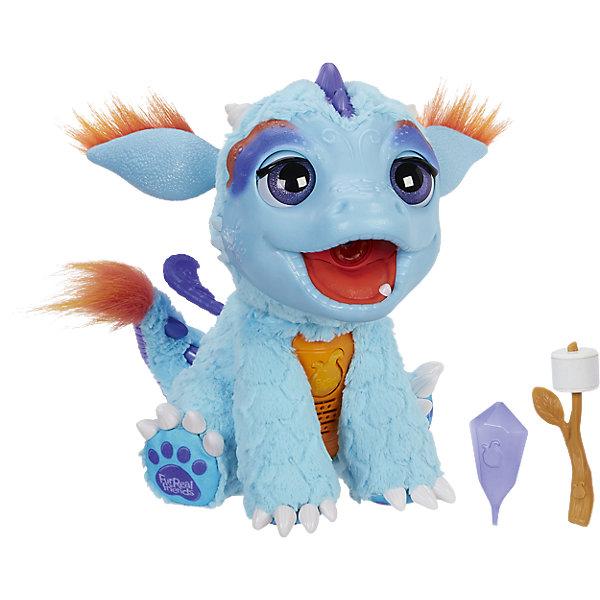 Милый Дракоша, FurReal FriendsИнтерактивные животные<br>Милый Дракоша, FurReal Friends от Hasbro - интересная интерактивная игрушка, которая наверняка очарует вашего ребенка!<br><br> Это забавное существо обладает целым набором удивительных умений и навыков: Дракоша реагирует на прикосновения, издает различные звуки (около  50) и имитирует дыхание огнем- дракончик пускает пар изо рта, который подсвечивается красными светодиодами.<br>В комплекте с игрушкой идет специальный аксессуар-лакомство в виде палочки с воздушной зефиркой маршмеллоу, которую можно без труда подкоптить на огне, которым дышит дракончик. Угощениевыполнено из особого материала и меняет цвет при воздействии на него паром.<br><br><br>Дополнительная информация:<br><br>- В комплекте: интерактивный дракон, аксессуары, инструкция.<br>- Питание:  4 батарейки х C 1.5V (пальчиковые).<br>- Материал: плюш, текстиль, пластмасса.<br><br>Милого Дракошу, FurReal Friends можно купить в нашем интернет-магазине.<br><br>Ширина мм: 538<br>Глубина мм: 368<br>Высота мм: 208<br>Вес г: 1577<br>Возраст от месяцев: 48<br>Возраст до месяцев: 96<br>Пол: Женский<br>Возраст: Детский<br>SKU: 4786860