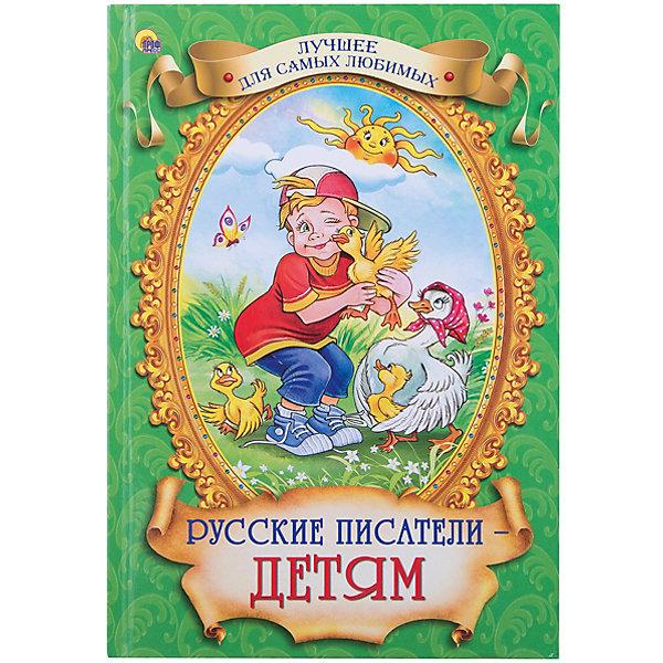 Сборник Русские писатели - детям, А. Чехов, Л. Толстой и др.Толстой Л.Н.<br>Данная серия собрала рассказы и сказки, проверенные многими поколениями, которые понравятся и современным детям. Книги - это лучший подарок не только взрослым, они помогают детям познавать мир и учиться читать, также книги позволяют ребенку весело проводить время. Они также стимулируют развитие воображения, логики и творческого мышления.<br>Это издание очень красиво оформлено, в него вошли самые интересные произведения. Яркие картинки обязательно понравятся малышам! Книга сделана из качественных и безопасных для детей материалов.<br><br>В сборник вошли следующие произведения:<br>А. Чехов Каштанка<br>Л. Пантелеев Честное слово<br>Л. Толстой Котёнок<br>Л. Толстой Птичка <br>К. Ушинский Умей обождать<br>И. Кокорин Сыновняя любовь<br>С. Дрожжин Первая борозда<br>Л. Толстой Два товарища<br>К. Ушинский Персики<br><br>Дополнительная информация:<br>размер: 170x246 мм;<br>вес: 281 г.<br><br>Книгу Русские писатели - детям, А. Чехов, Л. Толстой и др. от издательства Проф-Пресс можно купить в нашем магазине.<br><br>Ширина мм: 170<br>Глубина мм: 13<br>Высота мм: 246<br>Вес г: 281<br>Возраст от месяцев: 0<br>Возраст до месяцев: 60<br>Пол: Унисекс<br>Возраст: Детский<br>SKU: 4787311