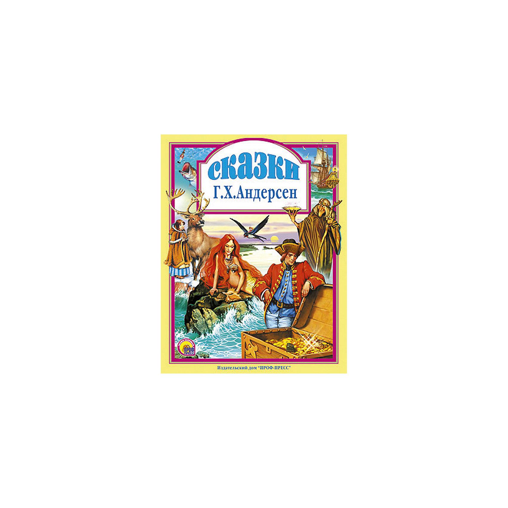 Сказки, Г.Х. АндерсенЗарубежные сказки<br>Книги - это лучший подарок не только взрослым, они помогают детям познавать мир и учиться читать, также книги позволяют ребенку весело проводить время. Они также стимулируют развитие воображения, логики и творческого мышления. Данная серия собрала стихи, рассказы и сказки, проверенные многими поколениями, которые понравятся и современным детям. <br>Это издание очень красиво оформлено, в него вошли самые интересные произведения автора. Яркие картинки обязательно понравятся малышам! Книга сделана из качественных и безопасных для детей материалов. <br><br>Содержание: <br>«Гадкий утёнок»<br> «Русалочка»<br>«Оловянный солдатик»<br>«Дюймовочка»<br>«Снежная Королева»<br>«Новое платье короля»<br>«Огниво»<br> <br>Дополнительная информация:<br>размер: 200х265 мм;<br>вес: 441 г.<br><br>Книгу Сказки Андерсена от издательства Проф-Пресс можно купить в нашем магазине.<br><br>Ширина мм: 200<br>Глубина мм: 13<br>Высота мм: 265<br>Вес г: 441<br>Возраст от месяцев: 0<br>Возраст до месяцев: 60<br>Пол: Унисекс<br>Возраст: Детский<br>SKU: 4787333