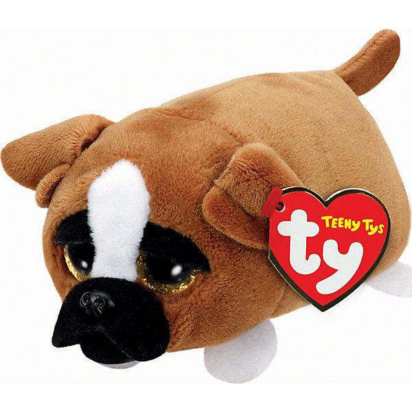 Мягкая игрушка Щенок Diggs, 11 см, Teeny Tys, TyМягкие игрушки животные<br>Мягкая игрушка Щенок Diggs, 11 см, Teeny Tys, Ty (Тай)<br><br>Характеристики:<br><br>• мягкий и приятный на ощупь<br>• внутри находятся специальные гранулы для развития тактильных навыков<br>• способствует развитию мелкой моторики<br>• удобно взять с собой<br>• материал: искусственный мех, текстиль, пластик<br>• изготовлена из безопасных материалов<br>• наполнитель: синтепон<br>• размер игрушки: 11 см<br><br>Diggs - маленький щенок, готовый стать верным другом для вашего ребенка. Он имеет приятный окрас и большие выразительные глазки. Миниатюрный размер щенка позволит брать его с собой в гости или на прогулку. Игрушка изготовлена из мягких и прочных материалов, безопасных для детского здоровья. Внутри находятся специальные гранулы, способствующие развитию моторики рук и тактильных навыков.<br><br>Мягкую игрушку Щенок Diggs, 11 см, Teeny Tys, Ty (Тай) можно купить в нашем интернет-магазине.<br><br>Ширина мм: 112<br>Глубина мм: 88<br>Высота мм: 53<br>Вес г: 42<br>Возраст от месяцев: 12<br>Возраст до месяцев: 72<br>Пол: Женский<br>Возраст: Детский<br>SKU: 4787352