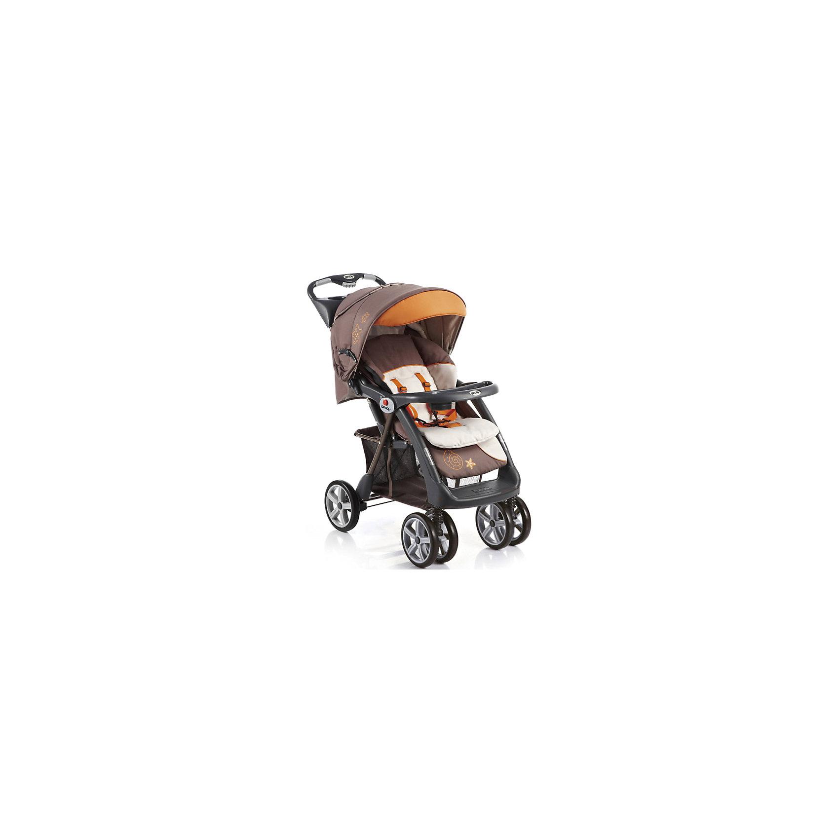 Прогулочная коляска C879CR (R4BB), Geoby, коричневый/оранжевыйКоляска Geoby C879CR - прекрасный вариант для путешествий, прогулок и активного отдыха детьми! Удобная и манёвренная модель имеет сдвоенные передние поворотные колеса, которые обеспечивают прекрасную проходимость на любом грунте. Жесткая спинка дополнена мягкой набивкой, регулируется в трех положениях, что гарантирует малышам отличный сон и отдых на свежем воздухе. Глубокий капюшон убережет ребенка от солнечных лучей или же холодного ветра и дождя, пятиточечные страховочные ремни обеспечат безопасность даже самым активным маленьким путешественникам. Коляска легко и быстро складывается, нужно лишь нажать кнопку на ручке. В сложенном виде занимает очень мало места.<br><br>Дополнительная информация:<br><br>- Материал: сталь, пластик, резина, текстиль. <br>- Размер в сложенном виде: 33х58х105 см.<br>- Размер в разложенном виде:103х58х98 см.<br>- Механизм складывания: книжка. <br>- Система амортизации.<br>- Задний стояночный тормоз.<br>- Количество колес: 6 (передние сдвоенные).<br>- Передние колеса поворотные с фиксацией. <br>- Диаметр колес: 21,5 см.<br>- Ширина шасси: 56 см.<br>- Высота ручки: 100 см.<br>- Вес: 11,9 кг.<br>- Регулировка наклона спинки в 3 положениях (до положения лежа).<br>- Съемный столик с подставкой для бутылочки.<br>- Столик с ящичком и подставкой для стакана (на ручке коляски).<br>- Регулируемая подножка.<br>- Большой капюшон со смотровым окном.<br>- Пятиточечные ремни безопасности.<br>- Быстро и удобно складывается одной рукой. <br>- Съемный мягкий матрасик.<br>- Устойчиво стоит в сложенном виде.<br>- Корзина для вещей. <br>- В комплекте: полог, матрасик.<br><br>Прогулочную коляску C879CR (R4BB), Geoby (Геоби), коричневую/оранжевую, можно купить в нашем магазине.<br><br>Ширина мм: 500<br>Глубина мм: 310<br>Высота мм: 920<br>Вес г: 14900<br>Возраст от месяцев: 6<br>Возраст до месяцев: 36<br>Пол: Унисекс<br>Возраст: Детский<br>SKU: 4787777
