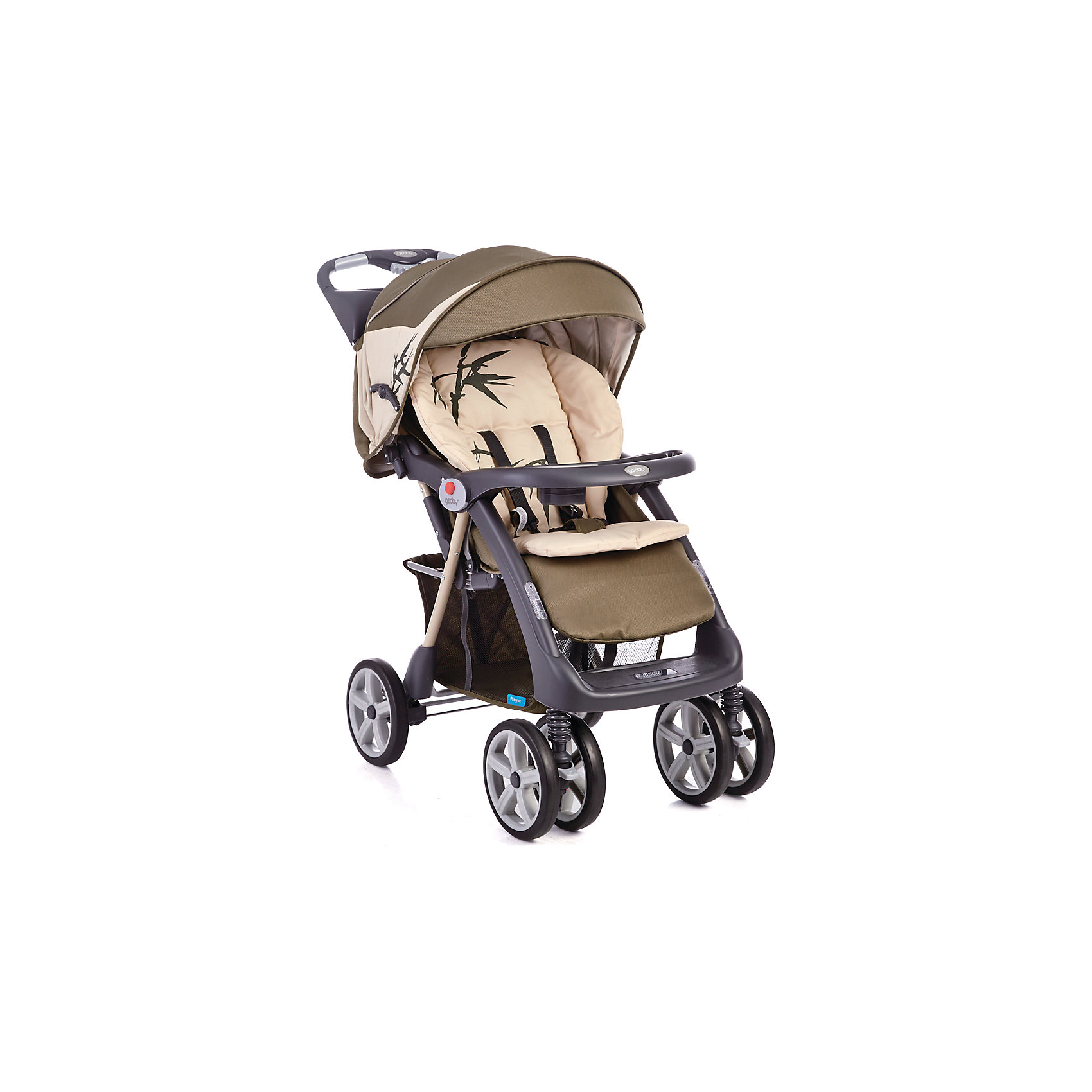 Прогулочная коляска C879CR (RKFY-G), Geoby, бежевый/зеленыйКоляска Geoby C879CR - прекрасный вариант для путешествий, прогулок и активного отдыха детьми! Удобная и манёвренная модель имеет сдвоенные передние поворотные колеса, которые обеспечивают прекрасную проходимость на любом грунте. Жесткая спинка дополнена мягкой набивкой, регулируется в трех положениях, что гарантирует малышам отличный сон и отдых на свежем воздухе. Глубокий капюшон убережет ребенка от солнечных лучей или же холодного ветра и дождя, пятиточечные страховочные ремни обеспечат безопасность даже самым активным маленьким путешественникам. Коляска легко и быстро складывается, нужно лишь нажать кнопку на ручке. В сложенном виде занимает очень мало места.<br><br>Дополнительная информация:<br><br><br>- Материал: сталь, пластик, резина, текстиль. <br>- Размер в сложенном виде: 33х58х105 см.<br>- Размер в разложенном виде:103х58х98 см.<br>- Механизм складывания: книжка. <br>- Система амортизации.<br>- Задний стояночный тормоз.<br>- Количество колес: 6 (передние сдвоенные).<br>- Передние колеса поворотные с фиксацией. <br>- Диаметр колес: 21,5 см.<br>- Ширина шасси: 56 см.<br>- Высота ручки: 100 см.<br>- Вес: 11,9 кг.<br>- Регулировка наклона спинки в 3 положениях (до положения лежа).<br>- Съемный столик с подставкой для бутылочки.<br>- Столик с ящичком и подставкой для стакана (на ручке коляски).<br>- Регулируемая подножка.<br>- Большой капюшон со смотровым окном.<br>- Пятиточечные ремни безопасности.<br>- Быстро и удобно складывается одной рукой. <br>- Съемный мягкий матрасик.<br>- Устойчиво стоит в сложенном виде.<br>- Корзина для вещей. <br>- В комплекте: полог, дождевик, матрасик.<br><br>Прогулочную коляску C879CR (R4BB), Geoby (Геоби), бежевую/зеленую, можно купить в нашем магазине.<br><br>Ширина мм: 500<br>Глубина мм: 310<br>Высота мм: 920<br>Вес г: 14900<br>Возраст от месяцев: 6<br>Возраст до месяцев: 36<br>Пол: Унисекс<br>Возраст: Детский<br>SKU: 4787778