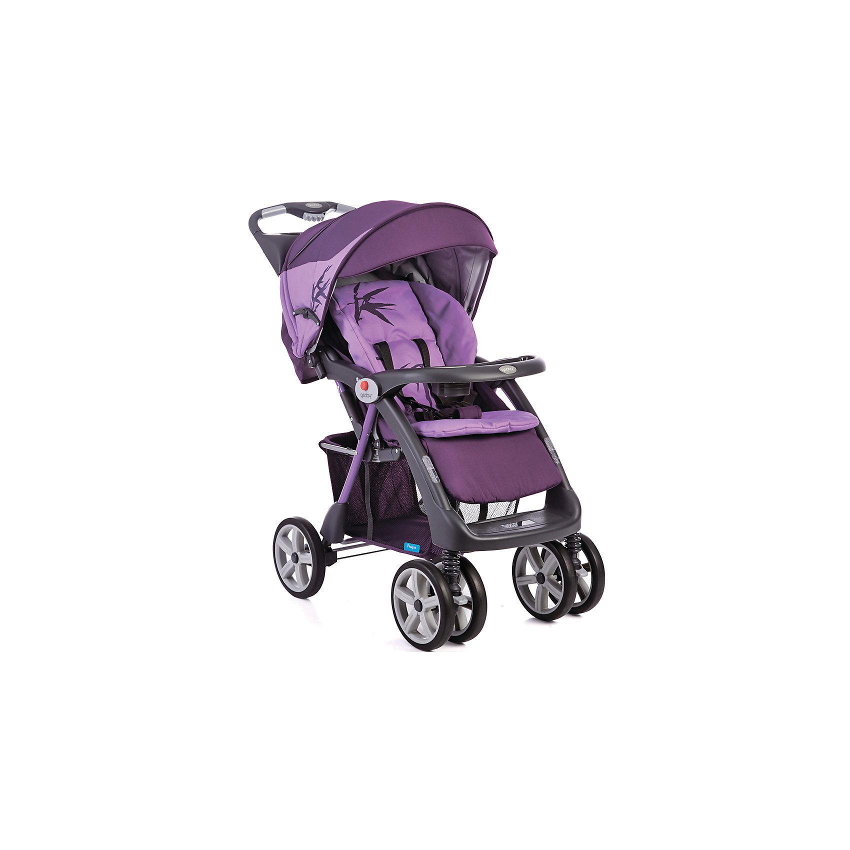 Прогулочная коляска C879CR (RZZY), Geoby, сиреневый/фиолетовыйКоляска Geoby C879CR - прекрасный вариант для путешествий, прогулок и активного отдыха детьми! Удобная и манёвренная модель имеет сдвоенные передние поворотные колеса, которые обеспечивают прекрасную проходимость на любом грунте. Жесткая спинка дополнена мягкой набивкой, регулируется в трех положениях, что гарантирует малышам отличный сон и отдых на свежем воздухе. Глубокий капюшон убережет ребенка от солнечных лучей или же холодного ветра и дождя, пятиточечные страховочные ремни обеспечат безопасность даже самым активным маленьким путешественникам. Коляска легко и быстро складывается, нужно лишь нажать кнопку на ручке. В сложенном виде занимает очень мало места.<br><br>Дополнительная информация:<br><br>- Материал: сталь, пластик, резина, текстиль. <br>- Размер в сложенном виде: 33х58х105 см.<br>- Размер в разложенном виде:103х58х98 см.<br>- Механизм складывания: книжка. <br>- Система амортизации.<br>- Задний стояночный тормоз.<br>- Количество колес: 6 (передние сдвоенные).<br>- Передние колеса поворотные с фиксацией. <br>- Диаметр колес: 21,5 см.<br>- Ширина шасси: 56 см.<br>- Высота ручки: 100 см.<br>- Вес: 11,9 кг.<br>- Регулировка наклона спинки в 3 положениях (до положения лежа).<br>- Съемный столик с подставкой для бутылочки.<br>- Столик с ящичком и подставкой для стакана (на ручке коляски).<br>- Регулируемая подножка.<br>- Большой капюшон со смотровым окном.<br>- Пятиточечные ремни безопасности.<br>- Быстро и удобно складывается одной рукой. <br>- Съемный мягкий матрасик.<br>- Устойчиво стоит в сложенном виде.<br>- Корзина для вещей. <br>- В комплекте: полог, дождевик, матрасик.<br><br>Прогулочную коляску C879CR (R4BB), Geoby (Геоби), сиреневую/фиолетовую, можно купить в нашем магазине.<br><br>Ширина мм: 500<br>Глубина мм: 310<br>Высота мм: 920<br>Вес г: 14900<br>Возраст от месяцев: 6<br>Возраст до месяцев: 36<br>Пол: Женский<br>Возраст: Детский<br>SKU: 4787780