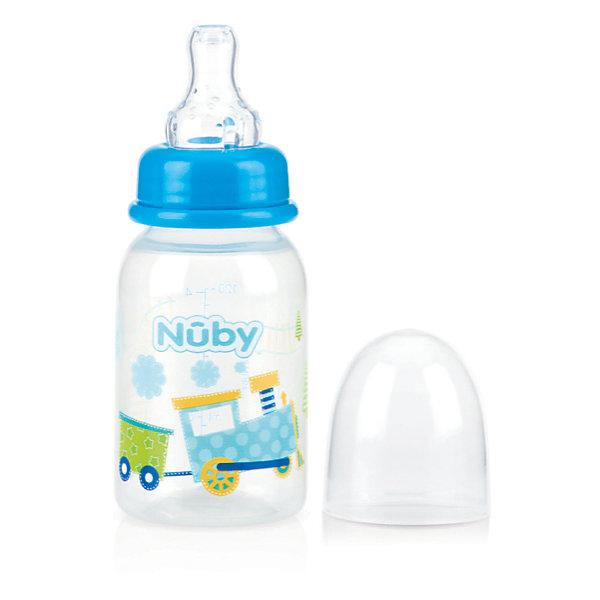 Бутылочка с антиколиковой системой Машинка, 120 мл, Nuby, голубойБутылочки и аксессуары<br>Чтобы малыш рос сильным и здоровым, нужно заботиться о его питании! А в этом, прекрасно сможет помочь полипропиленовая бутылочка Nuby.<br>У бутылочки стандартное горлышко и соска регулируемого потока. <br>СОСКА: <br>Специально, в целях заботы о комфорте Вашего ребенка, была разработана антиколиковая система, которая встроена в соску -  эта система позволяет предотвратить заглатывание ребенком воздуха, что обычно приводит к возникновению коликов! Так же на соске есть рельефные силиконовые шишечки, которые помогают прорезаться первым зубкам, с помощью аккуратного массирования десен малыша.<br>Уход: <br>Бутылочку можно кипятить, а так же мыть в посудомоечной машине ( на верхней полке). <br>Микроволновую печь использовать только для подогрева жидкости ( при этом, крышка и соска должны быть сняты).<br>ВАЖНО: <br>Важно, мыть и кипятить соски и бутылочки перед использованием! Все соски, со временем, могут изнашиваться. Тщательно проверяйте соски  и, обязательно, заменяйте их тогда, когда  они становятся липкими, растянутыми или видны другие признаки износа. <br><br>Дополнительная информация:<br><br>- Возраст: с рождения.<br>- Цвет: голубой.<br>- Объем: 120 мл.<br>- Размер упаковки: 5х5х16 см.<br>- Вес в упаковке: 45 г.<br><br>Купить бутылочку с антиколиковой системой Nuby в голубом цвете, можно в нашем магазине.<br><br>Ширина мм: 50<br>Глубина мм: 50<br>Высота мм: 160<br>Вес г: 45<br>Возраст от месяцев: 0<br>Возраст до месяцев: 36<br>Пол: Мужской<br>Возраст: Детский<br>SKU: 4788564