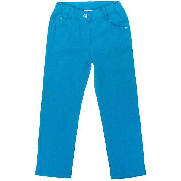 Брюки для девочки PlayTodayБрюки<br>Брюки для девочки от известного бренда PlayToday<br>Яркие бирюзовые брюки отлично сочетаются с темными футболками и кардиганами. Застегивается на молнию и кнопку с сердечком. Пояс на резинке, есть 4 кармашка и шлевки для ремня. Сзади на поясе нашивка с сердечками из пайеток.<br>Состав:<br>98% хлопок, 2% эластан<br>Ширина мм: 215; Глубина мм: 88; Высота мм: 191; Вес г: 336; Цвет: белый; Возраст от месяцев: 24; Возраст до месяцев: 36; Пол: Женский; Возраст: Детский; Размер: 98,128,122,116,110,104; SKU: 4789828;