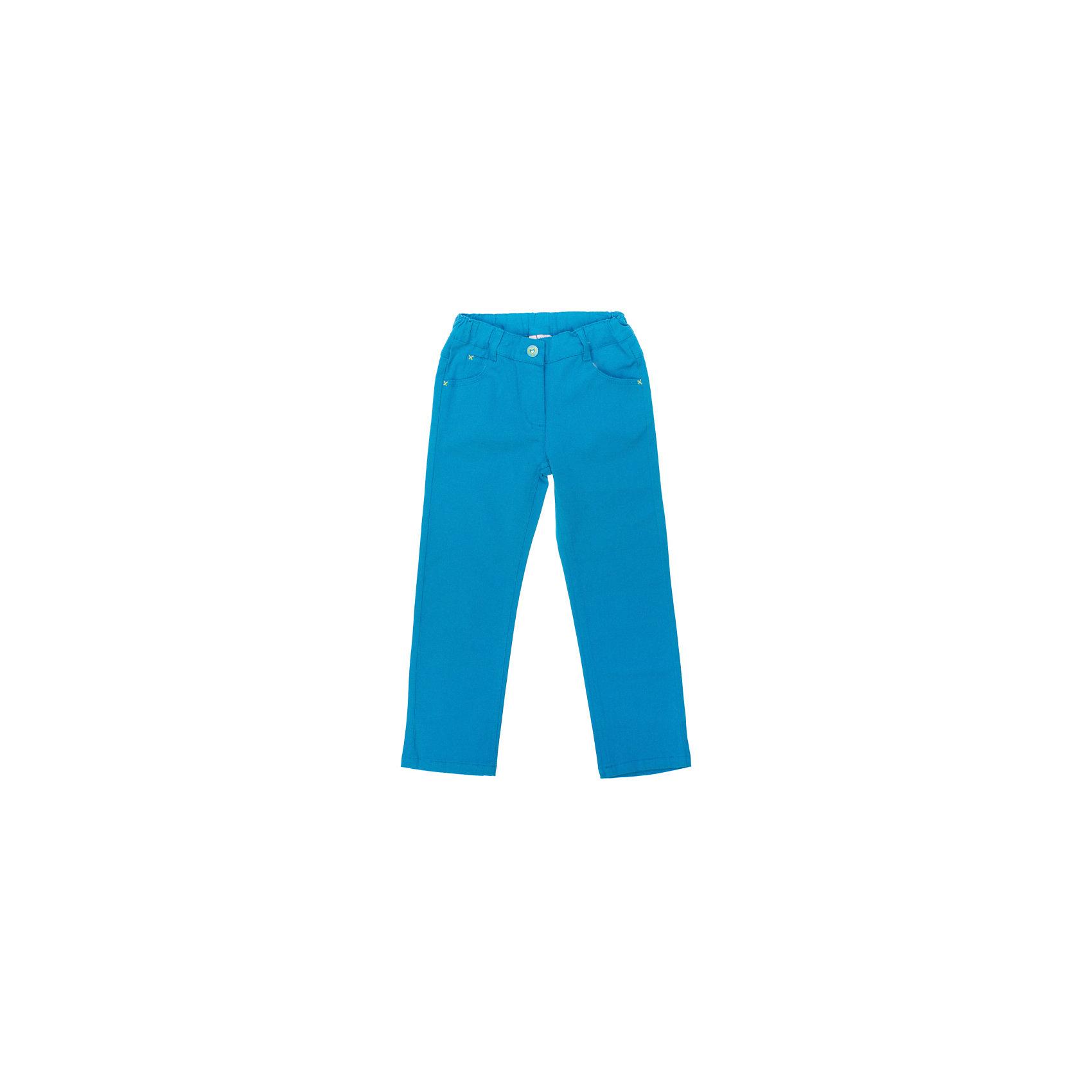 Брюки для девочки PlayTodayБрюки<br>Брюки для девочки от известного бренда PlayToday<br>Яркие бирюзовые брюки отлично сочетаются с темными футболками и кардиганами. Застегивается на молнию и кнопку с сердечком. Пояс на резинке, есть 4 кармашка и шлевки для ремня. Сзади на поясе нашивка с сердечками из пайеток.<br>Состав:<br>98% хлопок, 2% эластан<br><br>Ширина мм: 215<br>Глубина мм: 88<br>Высота мм: 191<br>Вес г: 336<br>Цвет: разноцветный<br>Возраст от месяцев: 24<br>Возраст до месяцев: 36<br>Пол: Женский<br>Возраст: Детский<br>Размер: 98,128,104,110,116,122<br>SKU: 4789828