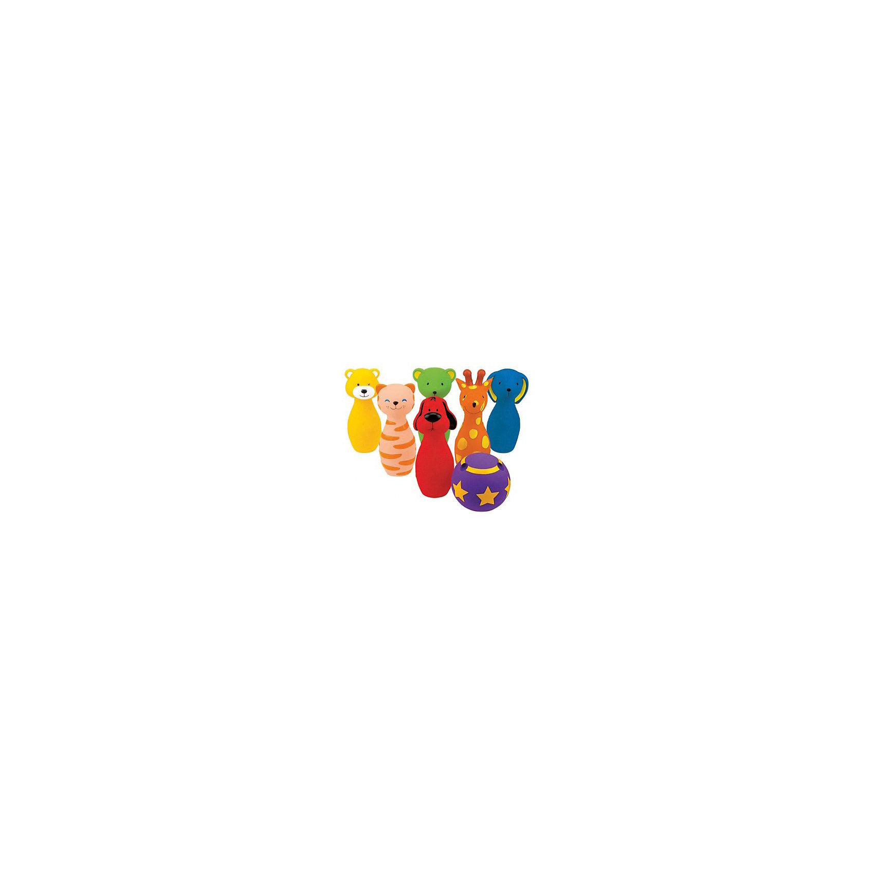 Боулинг цветной виниловый, Ks KidsРазвивающие игрушки<br>Боулинг цветной виниловый, Ks Kids (Кс Кидс) ? набор предназначен как для одиночной игры, так и для нескольких детей. Выполненные из цветного винила кегли в форме веселых животных не оставят равнодушным ни одного малыша. Поверхность каждой кегли  с разной фактурой ?  выпуклые шарики, спиральки, звездочки, полосочки ? позволят их использовать для развития тактильных ощущений малыша. В мячике имеются три отверстия под пальчики, чем создается имитация настоящего шара для боулинга.<br>Боулинг цветной виниловый, Ks Kids (Кс Кидс) позволит развивать у малыша координацию движения и концентрацию внимания, учит играть совместно с другими детьми, соблюдать требования и правила. <br>Для детей до года набор для боулинга Ks Kids тоже будет интересен, с ним можно купаться в ванной, ходить на прогулку, кегли удобно держать в руке. Даже если малыш попытается грызть кегли ? беспокоиться не стоит, так как при изготовлении игрушки использованы нетоксичные гипоаллергенные материалы.<br>Боулинг цветной виниловый, Ks Kids (Кс Кидс) ? увлекательный боулинг дома и на улице!<br> <br>Дополнительная информация:<br><br>- Вид игр: спортивные (подвижные)<br>- Предназначение: для дома, для улицы<br>- Дополнительные эффекты: при надавливании на кеглю издается характерный свист<br>- Материал: винил <br>- Размер: кегли 18*5 см; диаметр мячика 10 см<br>- Вес всего комплекта: 960 г<br>- Комплектация: 6 кеглей, 1 мячик<br>- Особенности ухода: разрешается мыть в теплой мыльной воде<br><br>Подробнее:<br><br>• Для детей в возрасте: от 1 года до 3 лет<br>• Страна производитель: Китай<br>• Торговый бренд: Ks Kids (Кс Кидс)<br><br>Боулинг цветной виниловый, Ks Kids (Кс Кидс) можно купить в нашем интернет-магазине.<br><br>Ширина мм: 370<br>Глубина мм: 220<br>Высота мм: 140<br>Вес г: 975<br>Возраст от месяцев: 12<br>Возраст до месяцев: 36<br>Пол: Унисекс<br>Возраст: Детский<br>SKU: 4790442