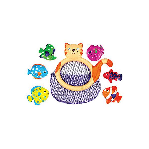 Кошка-сачок Мими для купания, Ks KidsИгрушки для ванной<br>Кошка-сачок Мими для купания, Ks Kids (Кс Кидс) ? увлекательная игрушка для купания. В комплект входит сачок в форме кошки и 6 ярких разноцветных рыбок. Играть в эту игру можно разными способами: либо отлавливать сачком плавающих на поверхности воды рыбок, либо закрепить сачок сбоку ванной (это позволяет сделать имеющаяся на тыльной стороне присоска) и складывать в него пойманных руками рыбок. Рыбки легко плавают на поверхности за счет материала, из которого они изготовлены: плотная немного надутая клеенка. <br>Кошка-сачок Мими для купания достаточно практичная игрушка, ее можно использовать как сетку для хранения и других игрушек для купания, достаточно прикрепить ее на кафельную плитку.<br>Игра кошка-сачок Мими для купания, Ks Kids (Кс Кидс) развивает ловкость, точность движений, внимательность, учит терпеливо достигать своей цели.<br><br>Дополнительная информация:<br><br>- Вид игр: подвижные игры в воде<br>- Предназначение: для дома, для улицы<br>- Дополнительные функции: можно использовать как контейнер для хранения всех игрушек для купания<br>- Материал: пластик, текстиль, плотная клеенка (рыбки)<br>- Размер: сачок 22*2*18 см (диаметр 22 см); рыбки 7,5*1,5*6 см<br>- Вес: 190 г<br>- Комплектация: сачок-кошка, 6 разноцветных рыбок<br>- Особенности ухода: разрешается мыть в теплой мыльной воде<br><br>Подробнее:<br><br>• Для детей в возрасте: от 1 года до 3 лет<br>• Страна производитель: Китай<br>• Торговый бренд: Ks Kids (Кс Кидс)<br><br>Кошку-сачок Мими для купания, Ks Kids (Кс Кидс) можно купить в нашем интернет-магазине.<br><br>Ширина мм: 220<br>Глубина мм: 200<br>Высота мм: 20<br>Вес г: 116<br>Возраст от месяцев: 12<br>Возраст до месяцев: 36<br>Пол: Унисекс<br>Возраст: Детский<br>SKU: 4790443