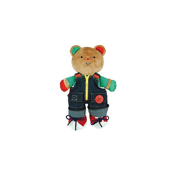 Медвежонок Teddy в одежде, Ks KidsРазвивающие игрушки<br>Медвежонок Teddy в одежде, Ks Kids (Кс Кидс) ? уникальная мягкая игрушка мирового бренда Кс Кидс. Медвежонок Teddy не просто станет самым любимым другом вашего малыша, он научит его аккуратности и опрятности в одежде. Медвежонок одет в модный джинсовый комбинезон, который украшен всеми возможными видами застежек: пуговица, замочек на молнии, липучка. Красивые ботиночки на лапах Teddy позволят научить малыша самому сложному процессу завязывания шнурков без слез и капризов! <br>Медвежонок Teddy в одежде, Ks Kids (Кс Кидс) ? это не только обучающая игрушка, это замечательная игрушка для сна. Вместе с медвежонком Teddy готовиться ко сну теперь можно будет без истерик, так как комбинезон у него съемный. Изготовленная из приятных на ощупь гипоаллергенных материалов эта мягкая игрушка от Кс Кидс подарит вашему ребенку спокойный сон. <br><br>Дополнительная информация:<br><br>- Вид игр: сюжетно-ролевые игры<br>- Предназначение: для дома, для детских садов, детских развивающих центров<br>- Материал: ткань<br>- Размер: высота мишки 34 см <br>- Вес: 400 г<br>- Комплектация: съемный комбинезон и ботиночки<br>- Особенности ухода: ручная стирка или машинная на режиме деликатной стирки <br><br>Подробнее:<br><br>• Для детей в возрасте: от 1 года до 3 лет<br>• Страна производитель: Китай<br>• Торговый бренд: Ks Kids (Кс Кидс)<br><br>Медвежонка Teddy в одежде Ks Kids (Кс Кидс) можно купить в нашем интернет-магазине.<br><br>Ширина мм: 260<br>Глубина мм: 75<br>Высота мм: 340<br>Вес г: 680<br>Возраст от месяцев: 12<br>Возраст до месяцев: 36<br>Пол: Унисекс<br>Возраст: Детский<br>SKU: 4790445