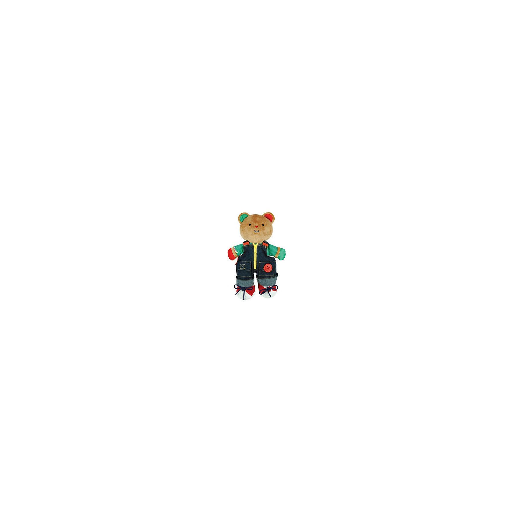 Медвежонок Teddy в одежде, Ks KidsМедвежонок Teddy в одежде, Ks Kids (Кс Кидс) ? уникальная мягкая игрушка мирового бренда Кс Кидс. Медвежонок Teddy не просто станет самым любимым другом вашего малыша, он научит его аккуратности и опрятности в одежде. Медвежонок одет в модный джинсовый комбинезон, который украшен всеми возможными видами застежек: пуговица, замочек на молнии, липучка. Красивые ботиночки на лапах Teddy позволят научить малыша самому сложному процессу завязывания шнурков без слез и капризов! <br>Медвежонок Teddy в одежде, Ks Kids (Кс Кидс) ? это не только обучающая игрушка, это замечательная игрушка для сна. Вместе с медвежонком Teddy готовиться ко сну теперь можно будет без истерик, так как комбинезон у него съемный. Изготовленная из приятных на ощупь гипоаллергенных материалов эта мягкая игрушка от Кс Кидс подарит вашему ребенку спокойный сон. <br><br>Дополнительная информация:<br><br>- Вид игр: сюжетно-ролевые игры<br>- Предназначение: для дома, для детских садов, детских развивающих центров<br>- Материал: ткань<br>- Размер: высота мишки 34 см <br>- Вес: 400 г<br>- Комплектация: съемный комбинезон и ботиночки<br>- Особенности ухода: ручная стирка или машинная на режиме деликатной стирки <br><br>Подробнее:<br><br>• Для детей в возрасте: от 1 года до 3 лет<br>• Страна производитель: Китай<br>• Торговый бренд: Ks Kids (Кс Кидс)<br><br>Медвежонка Teddy в одежде Ks Kids (Кс Кидс) можно купить в нашем интернет-магазине.<br><br>Ширина мм: 260<br>Глубина мм: 75<br>Высота мм: 340<br>Вес г: 680<br>Возраст от месяцев: 12<br>Возраст до месяцев: 36<br>Пол: Унисекс<br>Возраст: Детский<br>SKU: 4790445
