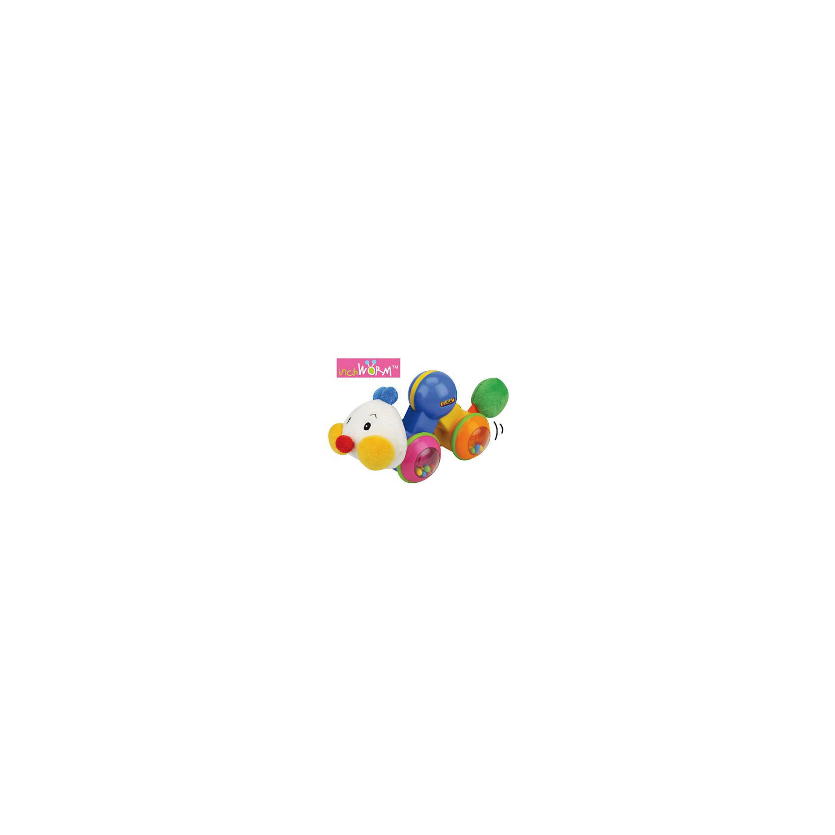 Развивающая игрушка Гусеничка: нажми и догони, Ks KidsРазвивающие игрушки<br>Развивающая игрушка Гусеничка: нажми и догони, Ks Kids ? игрушка, которая будет стимулировать вашего малыша к ползанию. Гусеничка состоит из подвижных отдельных модулей, которые в состоянии покоя находятся в собранном виде, при растягивании игрушка начинает двигаться, движение продолжается до тех пор, пока гусеница не соберется в исходное состояние. <br>Выполненная из яркого безопасного пластика Гусеничка: нажми и догони, Ks Kids подарит вашему малышу веселое времяпрепровождение: с ней можно играть не только в догонялки. У игрушки есть много развивающих элементов: пищалка в хвостике, вращение головки сопровождается треском, а колеса-модули наполнены разноцветными шариками, которые ударяясь друг о друга  при движении издают звук.<br>Развивающая игрушка Гусеничка: нажми и догони, Ks Kids предназначена для развития общего физического развития, мелкой моторики, координации движений и закрепления навыков ползания.<br><br>Дополнительная информация:<br><br>- Вид игр: подвижные и развивающие игры<br>- Предназначение: для дома, для улицы<br>- Материал: текстиль, пластик<br>- Размер: 22*8*11 см<br>- Вес: 400 г<br>- Комплектация: съемный комбинезон и ботиночки<br>- Особенности ухода: ручная стирка или машинная на режиме деликатной стирки <br><br>Подробнее:<br><br>• Для детей в возрасте: от 0 месяцев до 1 года<br>• Страна производитель: Китай<br>• Торговый бренд: Ks Kids (Кс Кидс)<br><br>Развивающую игрушку Гусеничка: нажми и догони, Ks Kids (Кс Кидс) можно купить в нашем интернет-магазине.<br><br>Ширина мм: 190<br>Глубина мм: 85<br>Высота мм: 238<br>Вес г: 370<br>Возраст от месяцев: 0<br>Возраст до месяцев: 12<br>Пол: Унисекс<br>Возраст: Детский<br>SKU: 4790446