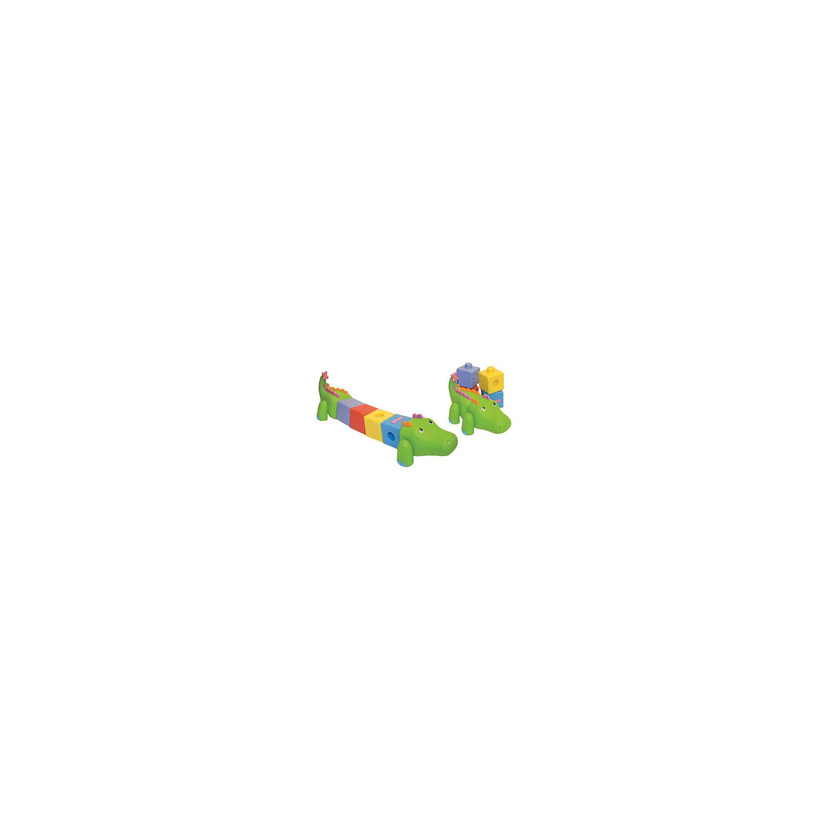 Сортер Крокодил, Ks KidsСортер Крокодил, Ks Kids ? многофункциональная игрушка, которая научит малыша первым конструкторским навыкам, познакомит со счетом до 4 и позволит сформировать у малыша первые простейшие математические представления. Туловище крокодила состоит из отдельных съемных блоков-кубиков. На каждом кубике изображены разноцветные цифры. Кубики можно использовать как для доращивания туловища крокодила, так и для отдельных игр (например, построить башенку). Уникальная конструкция сортера позволит познакомить ребенка с такими величинами как длинный - короткий. В процессе игр с сортером крокодилом, Ks Kids  у самых маленьких детей будут развиваться тактильные ощущения и мелкая моторика. Для детей постарше эта игрушка будет способствовать развитию интеллектуальных способностей  и пространственного мышления. <br>Несмотря на то, что производитель заявляет о том, что игрушка предназначена для детей от рождения до года, этот крокодил будет востребован практически до самой школы. Так ка с помощью этой игрушки можно вводить такие понятия, как прямой и обратный счет, четность - нечетность.<br>Если вы мечтаете вырастить настоящего математика сортер Крокодил от Ks Kids непременно должна быть у вашего малыша.<br><br>Дополнительная информация:<br><br>- Вид игр: развивающие<br>- Предназначение: для дома, для детского сада, для детских развивающих центров<br>- Материал: качественный пластик<br>- Размер: 38*17,5*11,5 см<br>- Вес: 400 г<br>- Комплектация: крокодил и 4 кубика<br>- Особенности ухода: можно мыть в теплой мыльной воде <br><br>Подробнее:<br><br>• Для детей в возрасте: от 0 месяцев до 1 года<br>• Страна производитель: Китай<br>• Торговый бренд: Ks Kids (Кс Кидс)<br><br>Сортер Крокодил, Ks Kids (Кс Кидс) можно купить в нашем интернет-магазине.<br><br>Ширина мм: 110<br>Глубина мм: 60<br>Высота мм: 395<br>Вес г: 334<br>Возраст от месяцев: 0<br>Возраст до месяцев: 12<br>Пол: Унисекс<br>Возраст: Детский<br>SKU: 4790449