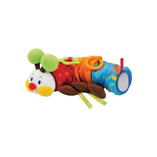 Игрушка для коляски Гусеничка, Ks KidsИгрушки для новорожденных<br>Игрушка для коляски Гусеничка, Ks Kids (Кс Кидс) ? развивающая яркая игрушка, предназначенная для детей с самого рождения. Удобный способ крепления (ленточки) позволяют ее использовать не только для коляски, но и для кроватки и автокресла. Разноцветные элементы и разная фактура позволяют с самых первых дней жизни малыша развивать зрительное восприятие. <br>Когда малыш подрастет, ему будут особо интересны звуковые эффекты: шуршание, бренчание, звон колокольчика. У гусенички имеются дополнительные элементы: игрушка-прорезыватель и зеркальце. У этой игрушки функционален каждый элемент ? желтые щечки и коричневые лапки шуршат, зеленые рожки ? гремят.<br>Игрушка для коляски Гусеничка, Ks Kids (Кс Кидс) создана специально для развития тактильного, зрительного и слухового восприятия. Гусеничка заменит множество других развивающих игрушек, так как она сочетает в себе все необходимые функции для раннего развития ребенка.<br><br>Дополнительная информация:<br><br>- Вид игр: развивающие<br>- Предназначение: для дома<br>- Материал: текстиль, пластик<br>- Размер: 9,5*12*30 см<br>- Вес: 250 г<br>- Комплектация: прорезыватель для зубов, зеркальце, колокольчик<br>- Особенности ухода: разрешается деликатная стирка <br><br>Подробнее:<br><br>• Для детей в возрасте: от 0 месяцев до 1 года<br>• Страна производитель: Китай<br>• Торговый бренд: Ks Kids<br><br>Игрушку для коляски Гусеничка, Ks Kids (Кс Кидс) можно купить в нашем интернет-магазине.<br><br>Ширина мм: 95<br>Глубина мм: 120<br>Высота мм: 300<br>Вес г: 355<br>Возраст от месяцев: 0<br>Возраст до месяцев: 12<br>Пол: Унисекс<br>Возраст: Детский<br>SKU: 4790450