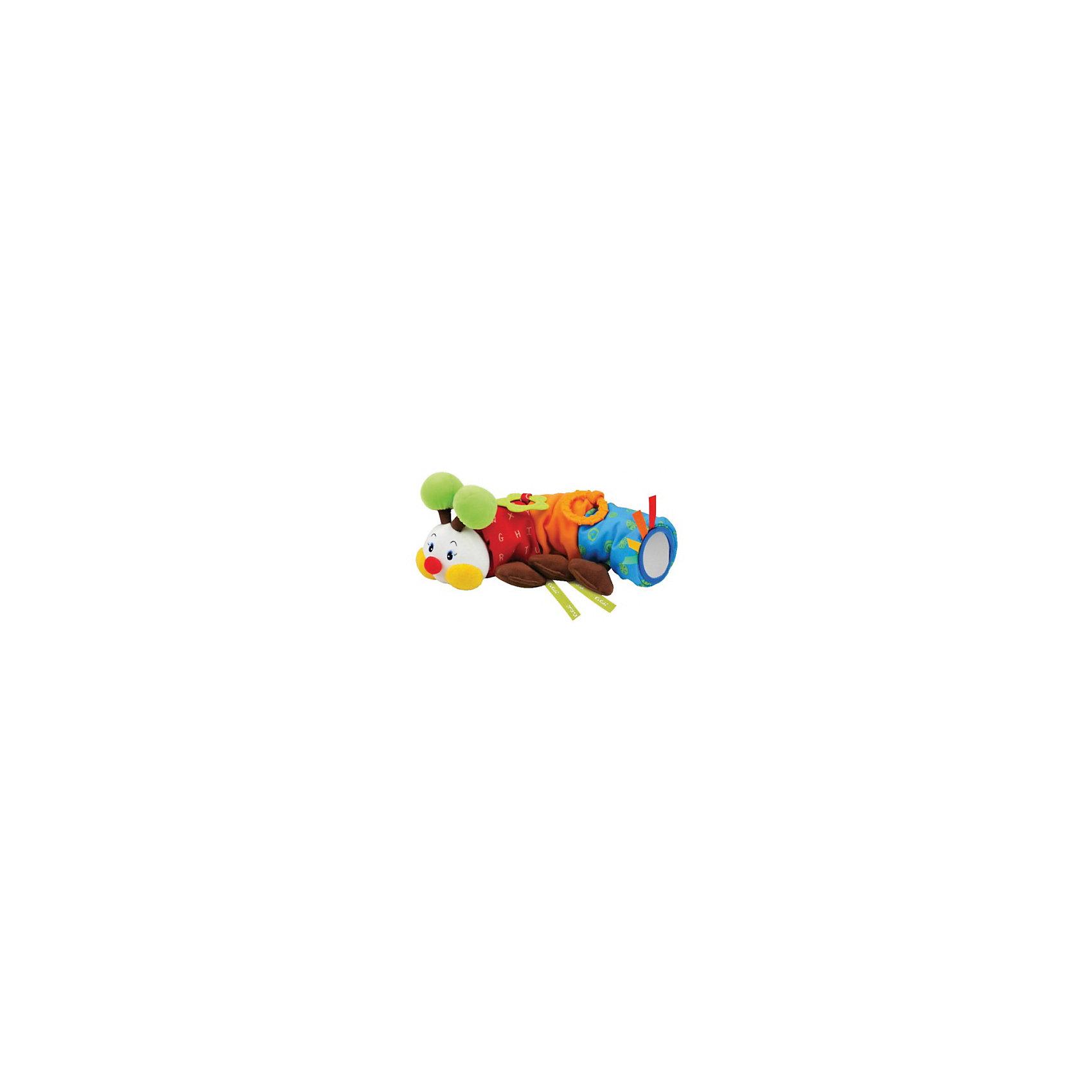 Игрушка для коляски Гусеничка, Ks KidsИгрушка для коляски Гусеничка, Ks Kids (Кс Кидс) ? развивающая яркая игрушка, предназначенная для детей с самого рождения. Удобный способ крепления (ленточки) позволяют ее использовать не только для коляски, но и для кроватки и автокресла. Разноцветные элементы и разная фактура позволяют с самых первых дней жизни малыша развивать зрительное восприятие. <br>Когда малыш подрастет, ему будут особо интересны звуковые эффекты: шуршание, бренчание, звон колокольчика. У гусенички имеются дополнительные элементы: игрушка-прорезыватель и зеркальце. У этой игрушки функционален каждый элемент ? желтые щечки и коричневые лапки шуршат, зеленые рожки ? гремят.<br>Игрушка для коляски Гусеничка, Ks Kids (Кс Кидс) создана специально для развития тактильного, зрительного и слухового восприятия. Гусеничка заменит множество других развивающих игрушек, так как она сочетает в себе все необходимые функции для раннего развития ребенка.<br><br>Дополнительная информация:<br><br>- Вид игр: развивающие<br>- Предназначение: для дома<br>- Материал: текстиль, пластик<br>- Размер: 9,5*12*30 см<br>- Вес: 250 г<br>- Комплектация: прорезыватель для зубов, зеркальце, колокольчик<br>- Особенности ухода: разрешается деликатная стирка <br><br>Подробнее:<br><br>• Для детей в возрасте: от 0 месяцев до 1 года<br>• Страна производитель: Китай<br>• Торговый бренд: Ks Kids<br><br>Игрушку для коляски Гусеничка, Ks Kids (Кс Кидс) можно купить в нашем интернет-магазине.<br><br>Ширина мм: 95<br>Глубина мм: 120<br>Высота мм: 300<br>Вес г: 355<br>Возраст от месяцев: 0<br>Возраст до месяцев: 12<br>Пол: Унисекс<br>Возраст: Детский<br>SKU: 4790450