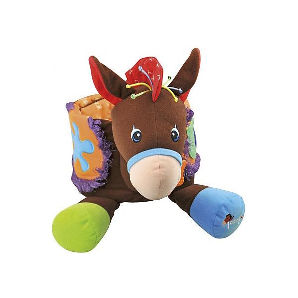 Развивающая игрушка Ковбой, Ks KidsРазвивающие центры<br>Развивающая игрушка Ковбой, Ks Kids (Кс Кидс) ? совершенно уникальная развивающая игрушка. Особенность ее заключается в том, что она сделана в форме пояса, который можно надеть на ребенка, позволяя тем самым имитировать верховую езду на коне.  При нажатии на коня, Тони издает различные звуки.<br>Тони изготовлен из высококачественного текстильного материала, имеет различные развивающие элементы: у седла закреплены прорезыватель и погремушка, хохолок на голове изготовлен из толстого разноцветного шнура, грива ? из шуршащего материала.<br>Развивающая игрушка Ковбой, Ks Kids позволит вашему малышу развивать воображение, придумывая различные приключенческие истории, путешествуя верхом на Тони.<br><br>Дополнительная информация:<br><br>- Вид игр: подвижные, сюжетно-ролевые<br>- Предназначение: для дома, для улицы<br>- Материал: текстиль, пластик<br>- Батарейки: 3 шт. типа LR44 (в комплект не входят)<br>- Размер: 31*28*17 см<br>- Вес: 1,0 кг<br>- Особенности ухода: разрешается деликатная стирка <br><br>Подробнее:<br><br>• Для детей в возрасте: от 0 месяцев до 1 года<br>• Страна производитель: Китай<br>• Торговый бренд: Ks Kids<br><br>Развивающую игрушку Ковбой, Ks Kids (Кс Кидс) можно купить в нашем интернет-магазине.<br><br>Ширина мм: 300<br>Глубина мм: 290<br>Высота мм: 160<br>Вес г: 772<br>Возраст от месяцев: 0<br>Возраст до месяцев: 12<br>Пол: Унисекс<br>Возраст: Детский<br>SKU: 4790451