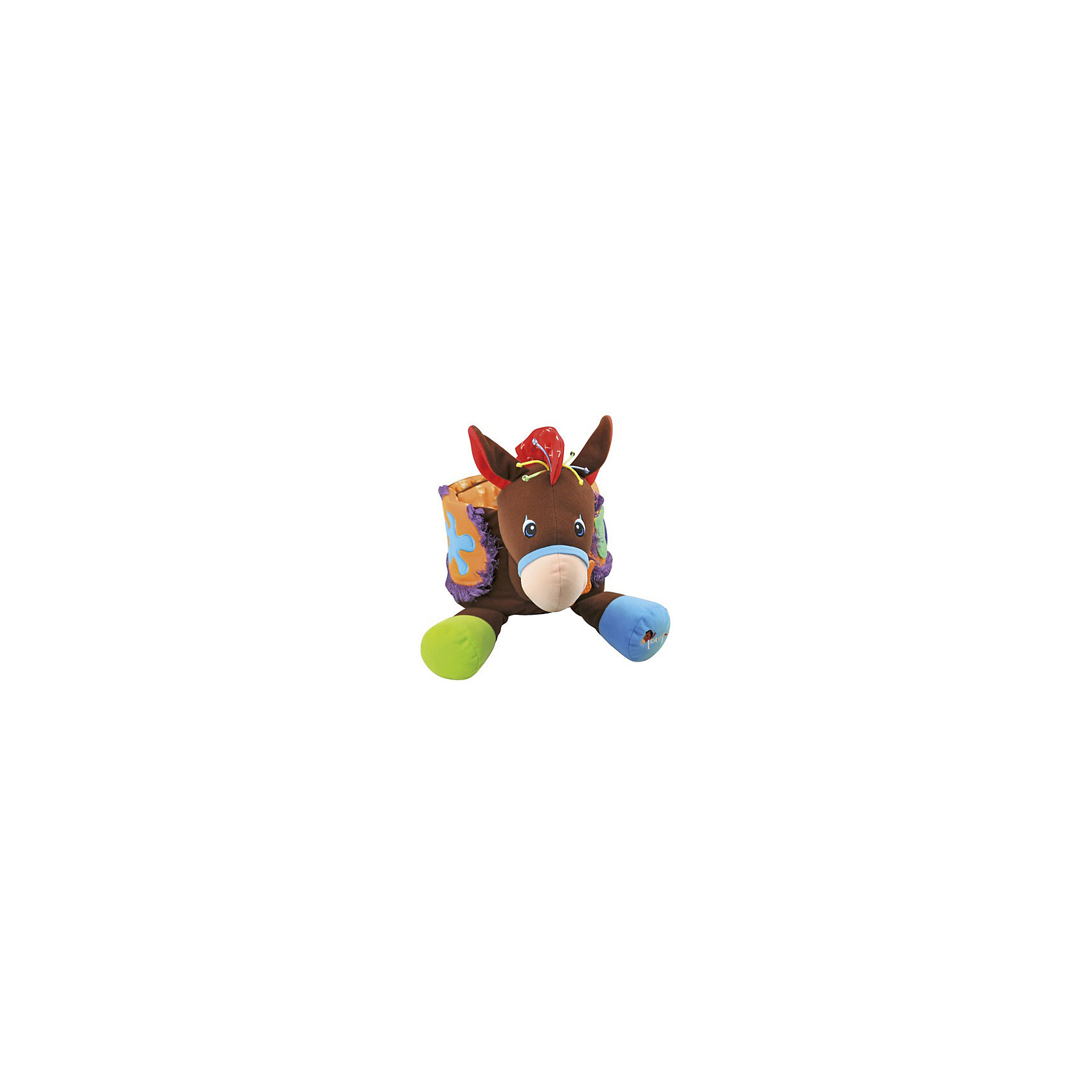 Развивающая игрушка Ковбой, Ks KidsРазвивающие игрушки<br>Развивающая игрушка Ковбой, Ks Kids (Кс Кидс) ? совершенно уникальная развивающая игрушка. Особенность ее заключается в том, что она сделана в форме пояса, который можно надеть на ребенка, позволяя тем самым имитировать верховую езду на коне.  При нажатии на коня, Тони издает различные звуки.<br>Тони изготовлен из высококачественного текстильного материала, имеет различные развивающие элементы: у седла закреплены прорезыватель и погремушка, хохолок на голове изготовлен из толстого разноцветного шнура, грива ? из шуршащего материала.<br>Развивающая игрушка Ковбой, Ks Kids позволит вашему малышу развивать воображение, придумывая различные приключенческие истории, путешествуя верхом на Тони.<br><br>Дополнительная информация:<br><br>- Вид игр: подвижные, сюжетно-ролевые<br>- Предназначение: для дома, для улицы<br>- Материал: текстиль, пластик<br>- Батарейки: 3 шт. типа LR44 (в комплект не входят)<br>- Размер: 31*28*17 см<br>- Вес: 1,0 кг<br>- Особенности ухода: разрешается деликатная стирка <br><br>Подробнее:<br><br>• Для детей в возрасте: от 0 месяцев до 1 года<br>• Страна производитель: Китай<br>• Торговый бренд: Ks Kids<br><br>Развивающую игрушку Ковбой, Ks Kids (Кс Кидс) можно купить в нашем интернет-магазине.<br><br>Ширина мм: 300<br>Глубина мм: 290<br>Высота мм: 160<br>Вес г: 772<br>Возраст от месяцев: 0<br>Возраст до месяцев: 12<br>Пол: Унисекс<br>Возраст: Детский<br>SKU: 4790451