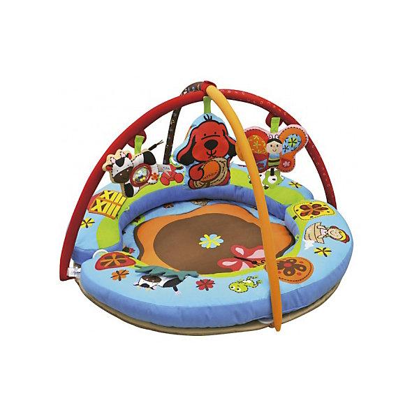 Развивающий коврик Полянка чудес, Ks KidsРазвивающие коврики<br>Развивающий коврик Полянка чудес, Ks Kids (Кс Кидс) предназначен для организации игрового пространства для самых маленьких. Особенность этого коврика, среди подобных, заключается в его конструкции: в комплект входят две подушки дугообразной формы, которые в собранном виде образуют круг, благодаря этим бортикам, коврик становится безопасным даже для тех малышей, которые уже научились переворачиваться. Яркие съемные игрушки, которые подвешиваются на дуги, позволят совершенствовать малышу хватательные рефлексы и развивать зрение. Яркие крупные рисунки создают веселое настроение. У коврика есть несколько секретов: открывающиеся и отгибающиеся текстильные элементы, под которыми прячутся различные обитатели веселой полянки.<br>Развивающий коврик Полянка чудес, Ks Kids (Кс Кидс) растет вместе с вашим малышом. Когда ребенок начнет учиться сидеть, валики-подушки можно трансформировать в удобное сиденье. Каждая из трех подвесных игрушек имеет свой звуковой эффект и может использоваться в качестве самостоятельной игрушки-погремушки.<br><br><br>Дополнительная информация:<br><br>- Вид игр: развивающие<br>- Предназначение: для дома<br>- Материал: текстиль, пластик<br>- Размер: диаметр 90 см<br>- Вес: 3 кг 175 г<br>- Комплектация: две дуги, три подвесные игрушки: бабочка, щенок Патрик, коровка<br>- Особенности ухода: разрешается деликатная стирка <br><br>Подробнее:<br><br>• Для детей в возрасте: от 0 месяцев до 1 года<br>• Страна производитель: Китай<br>• Торговый бренд: Ks Kids<br><br>Развивающий коврик Полянка чудес, Ks Kids (Кс Кидс) можно купить в нашем интернет-магазине.<br>Ширина мм: 750; Глубина мм: 590; Высота мм: 220; Вес г: 3175; Возраст от месяцев: 0; Возраст до месяцев: 12; Пол: Унисекс; Возраст: Детский; SKU: 4790452;