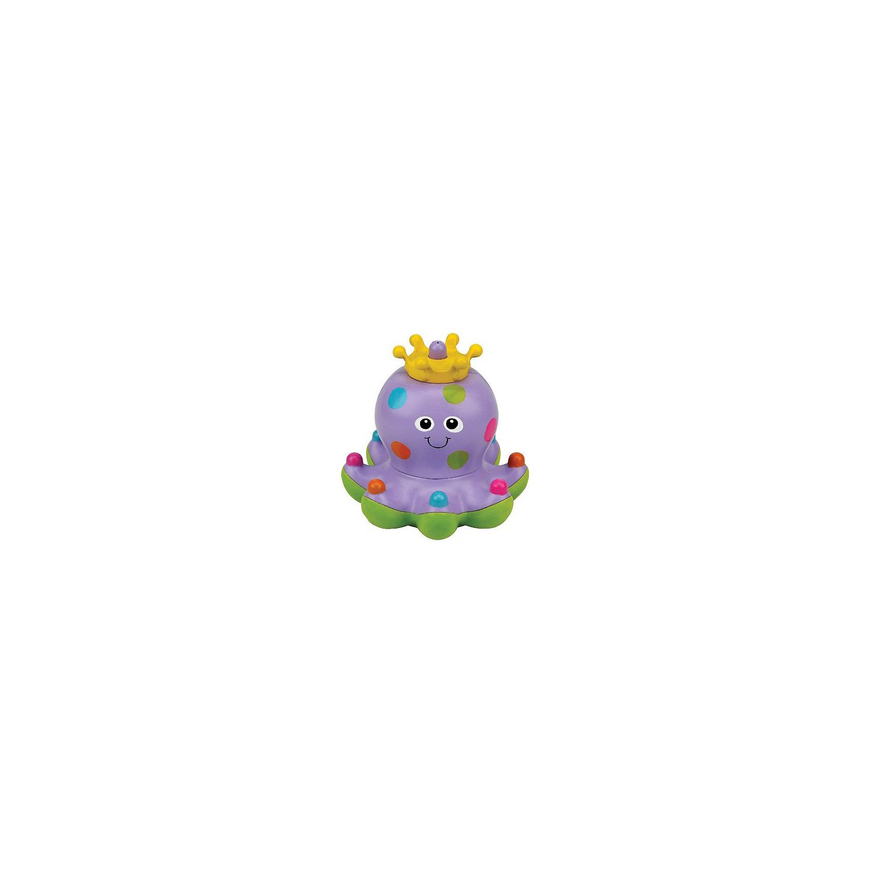 Осьминожка Клёпа, Ks KidsРазвивающие игрушки<br>Осьминожка Клёпа, Ks Kids ? новинка 2016 года, предназначенная для детей от года и старше сделает купание вашего ребенка невероятно увлекательным. Очаровательная осьминожка Клепа ? царица водной стихии, на голове у нее яркая корона. Она умеет плавать по поверхности воды, но ее самое главное умение ? запускать фонтанчики. При запуске струек воды Клепа «танцует» ? кружится на поверхности воды.<br>Изготовленная из качественного пластика с яркими горохами по всему телу, Клепа научит малыша различать цвета, а края щупалец, увенчанные разноцветными шариками, позволят развивать тактильные ощущения и координацию движений.<br> Осьминожка Клёпа, Ks Kids станет эксклюзивным подарком для любого малыша!<br><br>Дополнительная информация:<br><br>- Вид игр: игры в воде<br>- Предназначение: для ванной, для бассейна<br>- Батарейки: 2 батарейки АА (не входят в набор)<br>- Материал: качественный пластик<br>- Размер: 13*12 см<br>- Вес: 392 г<br>- Особенности ухода: разрешается мыть в мыльной воде, предварительно достав батарейки<br><br>Подробнее:<br><br>• Для детей в возрасте: от 1 года до 3 лет<br>• Страна производитель: Китай<br>• Торговый бренд: Ks Kids<br><br>Осьминожку Клёпу, Ks Kids (Кс Кидс) можно купить в нашем интернет-магазине.<br><br>Ширина мм: 180<br>Глубина мм: 180<br>Высота мм: 135<br>Вес г: 392<br>Возраст от месяцев: 12<br>Возраст до месяцев: 36<br>Пол: Унисекс<br>Возраст: Детский<br>SKU: 4790455