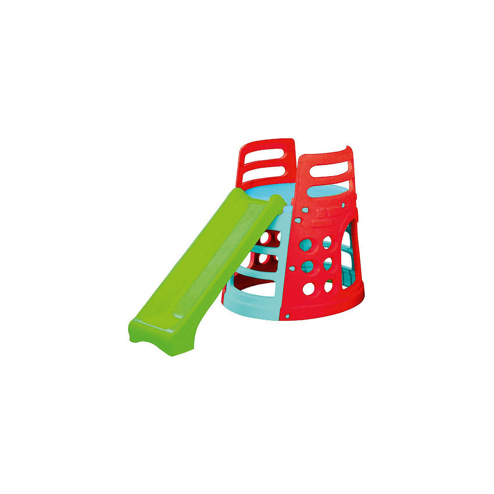 Marianplast Горка - БашняИгровой комплекс  Marianplast  Горка – Башня отлично подойдет для дачи или детской. <br><br>Башня устойчивая, имеет множество отверстий для лазания, которые помогают ребенку с легкостью забираться на нее, а также фактурные ступеньки - для безопасного подъёма.<br>Комплекс легко собирается (инструмент не требуется),  детали соединяются и закрепляются специальными пластиковыми гайками, которые входят в комплект.<br><br>Дополнительная информация:<br><br>- Д*ш*в, см: 100*180.<br>- Площадь 2м2.<br>- Размеры спусковой дорожки: ширина 26 см, длина 150 см<br>- Рекомендуется детям от 1,5 лет.<br>- Горка изготовлена из гипоаллергенной пластмассы, устойчивой к выцветанию. Пластик выдерживает температуру до -18 град. <br><br>Горка-Башня Marian Plast стимулирует малыша к активным действиям и движению, развивает воображение. Яркая и красочная, она обязательно понравится вашему малышу.<br><br>Ширина мм: 1250<br>Глубина мм: 900<br>Высота мм: 340<br>Вес г: 13500<br>Возраст от месяцев: 18<br>Возраст до месяцев: 84<br>Пол: Унисекс<br>Возраст: Детский<br>SKU: 4790461