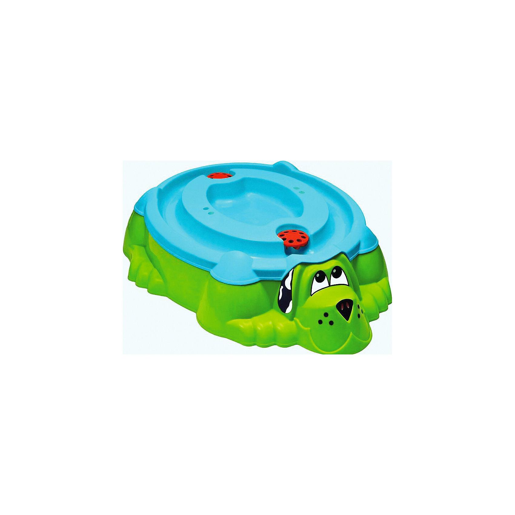 Песочница-бассейн Собачка с крышкой, салатовый, MarianplastИграем в песочнице<br>Песочница-бассейн Marian-Plast собачка с крышкой . Забавный пес дает возможность выбора, кем ему быть: песочницей или бассейном для Вашего ребенка.<br><br>Благодаря крышке, пес или песок в песочнице всегда останутся сухими, даже после дождя.<br>Песочница достаточно вместительная, подойдет для нескольких ребятишек. Внутри есть выступы, на которых малыши смогут посидеть и передохнуть, если вдруг устанут.<br>Песочница имеет удобную функциональную крышку. Если вдруг пошел дождик, то песочницу можно накрыть. Крышку можно использовать также как мини - бассейн. Крышка имеет специальные углубления - воронки, если в них налить водичку и запустить кораблик, то корабль будет лавировать по лабиринтам - гаваням.<br><br>Дополнительная информация:<br><br>- Материал: яркий высокопрочный пластик.<br>- Размер песочницы: 110х95 см, глубина - 25 см.<br><br>Для веселой и беззаботной игры в песок. Идеально подойдет для летнего отдыха на даче.<br><br>Ширина мм: 250<br>Глубина мм: 1150<br>Высота мм: 920<br>Вес г: 5890<br>Возраст от месяцев: 12<br>Возраст до месяцев: 84<br>Пол: Унисекс<br>Возраст: Детский<br>SKU: 4790462