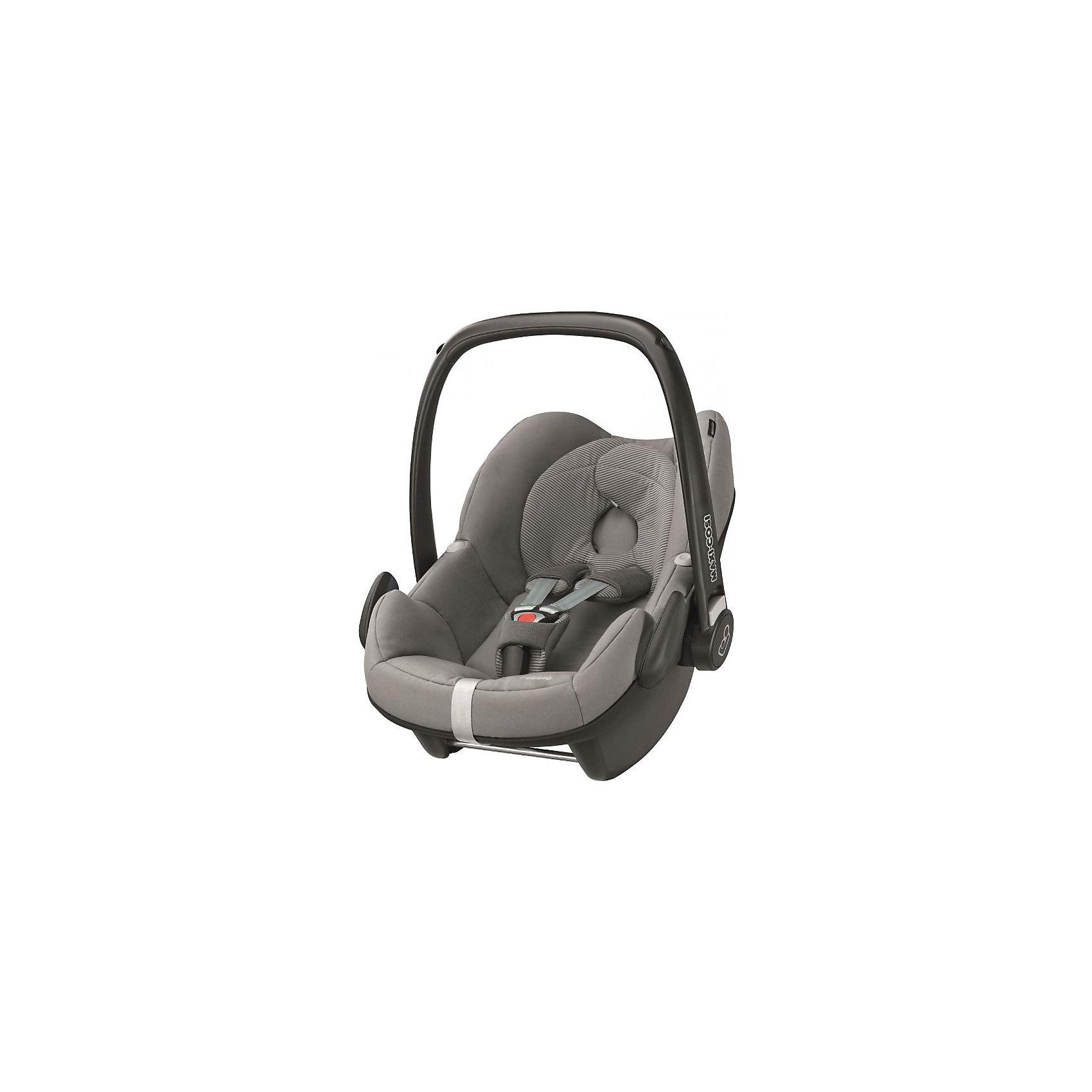 Автокресло Maxi-Cosi Pebble 0-13 кг, Concrete GreyГруппа 0+ (До 13 кг)<br>Прекрасное кресло для самых маленьких деток! Автокресло прекрасно подойдет для малышей от 0 до 15 месяцев. Кресло крепиться штатными ремнями безопасности против хода движения, так же кресло имеет специальную ногу-опору, которая не дает ему перевернуться. Внутри сидения есть регулируемые трех точечные ремни безопасности, а еще есть дополнительная подушечка, которая размещается под головой и спинкой ребенка.<br><br>Дополнительная информация:<br><br>- Возраст: с рождения до 15 месяцев. ( от 0 до 13 кг.)<br>- Цвет: Concrete Grey.<br>- Размер: 73x46x52 см. <br>- Общий вес: 4 кг.<br><br>Купить автокресло Pebble (0-13 кг.) в цвете Concrete Grey, можно в нашем магазине.<br><br>Ширина мм: 445<br>Глубина мм: 375<br>Высота мм: 725<br>Вес г: 3300<br>Возраст от месяцев: 0<br>Возраст до месяцев: 12<br>Пол: Унисекс<br>Возраст: Детский<br>SKU: 4790756