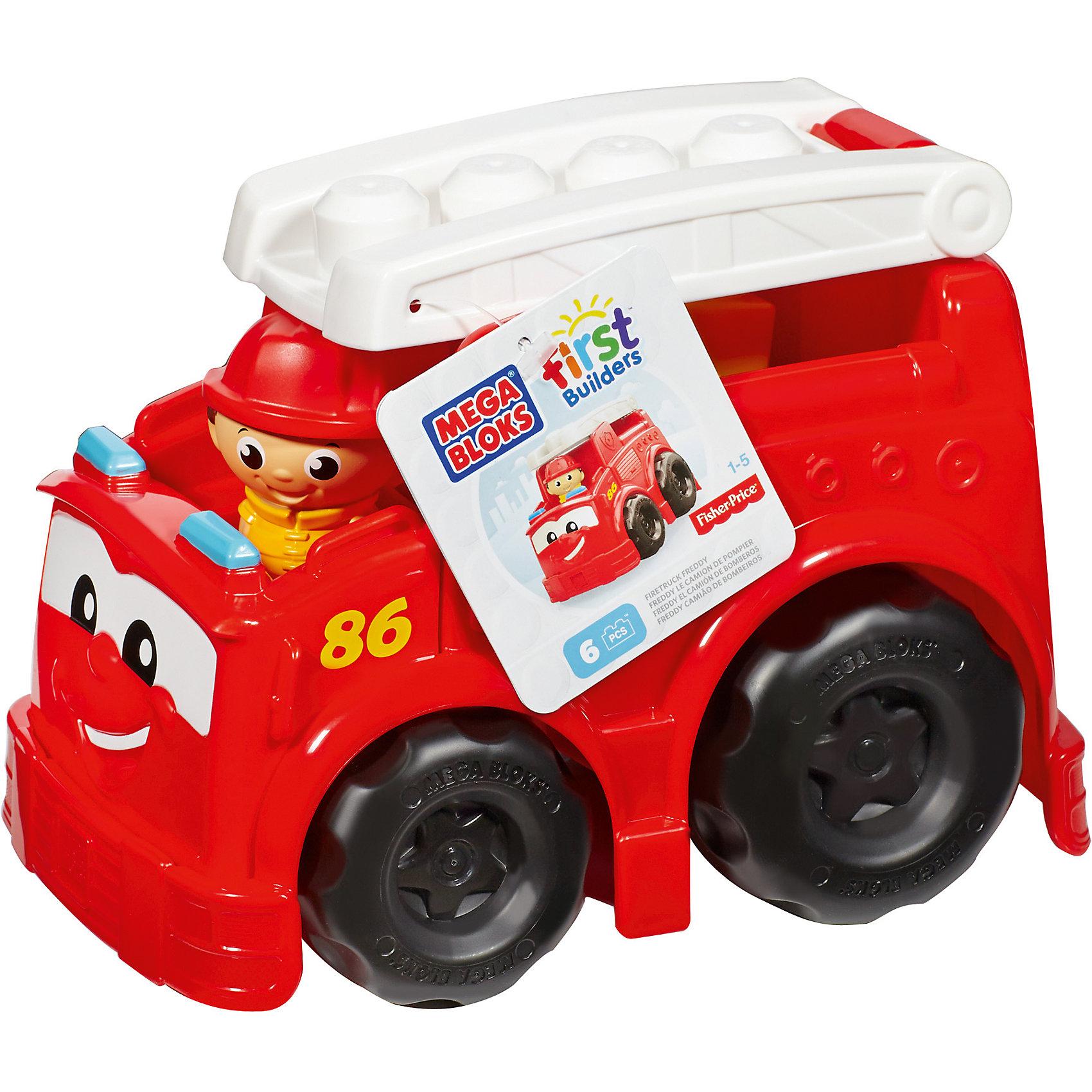 Машинка MEGA BLOKS First BuildersПластмассовые конструкторы<br>Машинка MEGA BLOKS First Builders - отличный подарок ребенку. Это красочная развивающая игрушка, которая обязательно понравится малышу. Она выполнена в виде яркой машинки с веселым лицом. Игрушка с крупными деталями идеально подходит для маленьких ручек малыша. В комплект помимо машинки входят 6 деталей-блоков First Builders, которые можно установить в верхней части автомобиля, и фигурка водителя. Набор совместим с другими наборами серии First Builders.<br><br><br>Такие игрушки помогают развить мелкую моторику, логическое мышление и воображение ребенка. Эта игрушка выполнена из высококачественного прочного пластика, безопасного для детей.<br>  <br>Дополнительная информация:<br><br>комплектация: комплекте: машинка, 6 деталей, фигурка водителя;<br>материал: пластик;<br>размер упаковки: 24,1 x 16,5 x 17,8 см;<br>вес: 530 г.<br><br>Машинку MEGA BLOKS First Builders от компании Mattel можно купить в нашем магазине.<br><br>Ширина мм: 180<br>Глубина мм: 240<br>Высота мм: 165<br>Вес г: 540<br>Возраст от месяцев: 12<br>Возраст до месяцев: 72<br>Пол: Унисекс<br>Возраст: Детский<br>SKU: 4791124