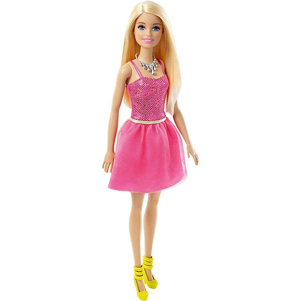 Кукла Сияние моды, BarbieКуклы<br>Характеристики:<br><br>• возраст: от 3 лет;<br>• материал: пластик, текстиль;<br>• высота куклы: 26 см;<br>• вес упаковки: 213 гр.;<br>• размер упаковки: 5х10х32,5 см;<br>• страна бренда: США.<br><br>Кукла Barbie из серии «Сияние моды» одета в стильное платье с корсетом на бретельках. На ее шее красуется ожерелье, а ноги украшают туфельки на каблуке.<br><br>Пышные густые волосы куклы можно расчесывать и собирать в разнообразные прически. Ручки, ножки и голова подвижны. Игрушка выполнена из качественных безопасных материалов.<br><br>Куклу «Сияние моды», Barbie можно купить в нашем интернет-магазине.<br>Ширина мм: 105; Глубина мм: 50; Высота мм: 330; Вес г: 185; Возраст от месяцев: 36; Возраст до месяцев: 108; Пол: Женский; Возраст: Детский; SKU: 4791128;