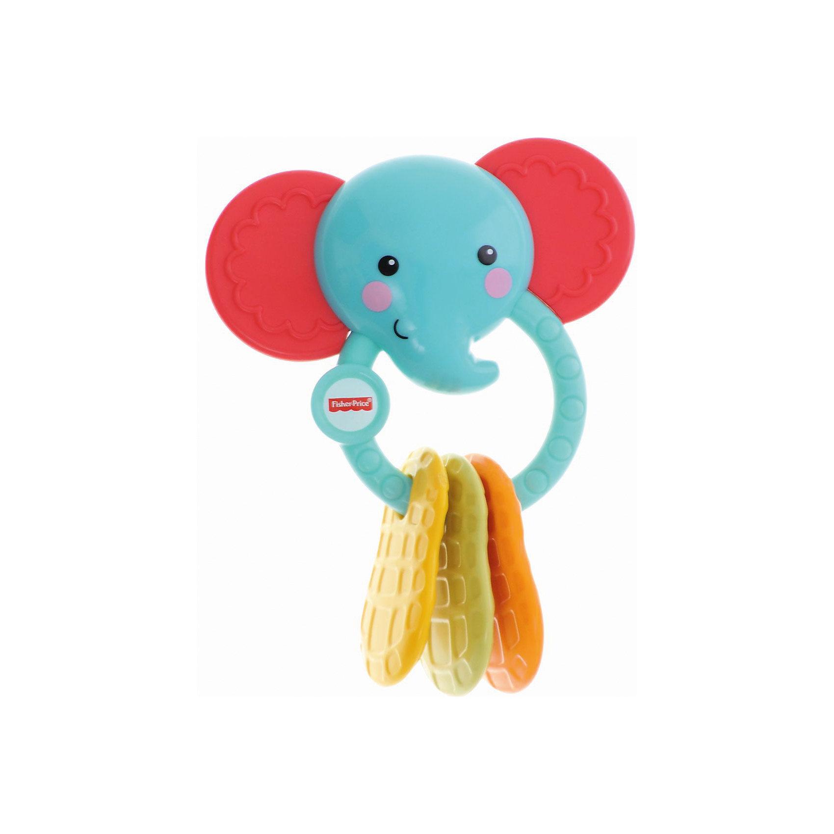Погремушка-прорезыватель Fisher-PriceПрорезыватели<br>Отличный подарок ребенку - прорезыватель-погремушка от Fisher-Price. Она сделана в виде зверушек или насекомых  - это игрушечный друг из и прорезыватель одновременно! Такие предметы помогут успокоить малыша, когда у него режутся зубки. Некоторые детали можно грызть, а за колечко малышу будет удобно держать погремушку в руках. Такие предметы привлекают внимание малышей и занимают их. С помощью кольца прорезыватель легко крепится на кроватке и в коляске. Благодаря кольцу игрушку брать с собой куда угодно. Она - небольшого размера и весит совсем немного. <br>Игрушка имеет такой размер, при котором ребенку удобно держать её в руках, а также брать с собой в гости или на прогулку. Такие игрушки помогают развить мелкую моторику, логическое мышление и воображение ребенка, а также познавать окружающий мир. Эта игрушка выполнена из высококачественного материала, безопасного для детей.<br>  <br>Дополнительная информация:<br><br>цвет: разноцветный;<br>материал: пластик;<br>комплектация: с кольцом-держателем;<br>размер упаковки: 5х14х18 см;<br>вес: 150 г.<br><br>Погремушку-прорезыватель Fisher-Price от компании Mattel можно купить в нашем магазине.<br><br>Ширина мм: 50<br>Глубина мм: 140<br>Высота мм: 180<br>Вес г: 148<br>Возраст от месяцев: 3<br>Возраст до месяцев: 18<br>Пол: Унисекс<br>Возраст: Детский<br>SKU: 4791137
