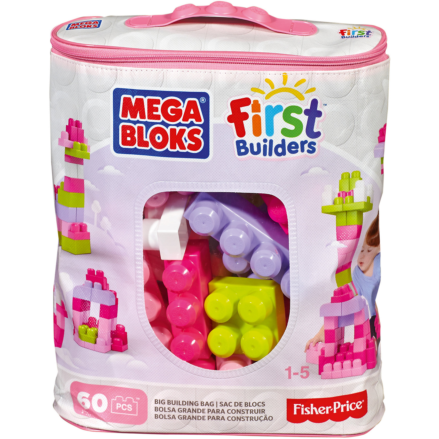 Конструктор из 60 деталей, MEGA BLOKS First BuildersПластмассовые конструкторы<br>Играть с конструктором - всегда весело и увлекательно! Отличный подарок ребенку - Конструктор из 60 деталей, MEGA BLOKS First Builders. Детали конструктора окрашены в яркие цвета, из них можно построить что угодно, начиная от высокого здания и заканчивая миниатюрными машинками. Все элементы имеют размер и форму, удобные для детских ручек. Конструктор совместим с наборами Mega Bloks First Builders.<br>Такие игрушки помогают развить мелкую моторику, логическое мышление и воображение ребенка. Эта игрушка выполнена из высококачественного прочного пластика, безопасного для детей.<br>  <br>Дополнительная информация:<br><br>комплектация: 60 деталей;<br>материал: пластик;<br>размер упаковки: 15 х 35 х 30 см ;<br>в комплекте - удобная сумка для хранения блоков.<br><br>Конструктор из 60 деталей, MEGA BLOKS First Builders от компании Mattel можно купить в нашем магазине.<br><br>Ширина мм: 345<br>Глубина мм: 290<br>Высота мм: 100<br>Вес г: 907<br>Возраст от месяцев: 12<br>Возраст до месяцев: 60<br>Пол: Унисекс<br>Возраст: Детский<br>SKU: 4791139
