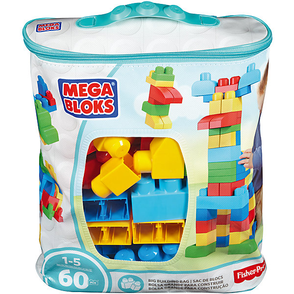 Купить Конструктор из 60 деталей, MEGA BLOKS First Builders, Китай, Унисекс