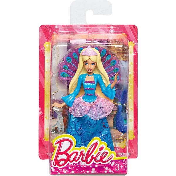 Сказочная мини-кукла, BarbieBarbie<br>Характеристики:<br><br>• возраст: от 3 лет;<br>• материал: пластик, текстиль;<br>• высота куклы: 10 см;<br>• вес упаковки: 40 гр.;<br>• размер упаковки: 3х9х13 см;<br>• страна бренда: США.<br><br>Сказочная мини-кукла Barbie одета в очаровательный красочный наряд, напоминающий одежду жителей волшебной страны. Отличительной особенностью куколки являются резиновые волосы. Благодаря размеру и материалам, из которых сделана игрушка, ее удобно брать с собой. В волосах не оседает пыль, куклу удобно мыть, она устойчива к механическим повреждениям.<br><br>Ножки, ручки и голова двигаются. Игрушка выполнена из качественных безопасных материалов.<br><br>Сказочную мини-куклу, Barbie можно купить в нашем интернет-магазине.<br>Ширина мм: 30; Глубина мм: 90; Высота мм: 130; Вес г: 49; Возраст от месяцев: 36; Возраст до месяцев: 96; Пол: Женский; Возраст: Детский; SKU: 4791161;