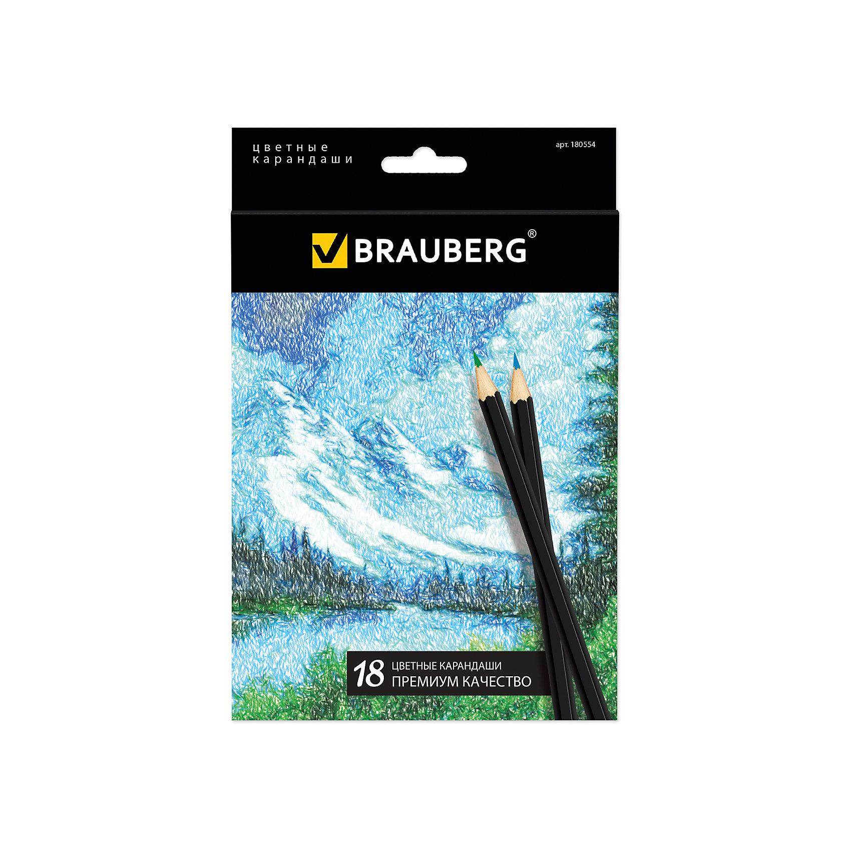 Цветные карандаши Artist line, 18 цв., BraubergНабор включает 18 карандашей премиум качества. Блеск, яркость и необыкновенная гладкость грифелей, изготовленных по специальной формуле, отвечают наивысшим требованиям. Ценная порода древесины, из которой сделан карандаш, гарантирует легкую заточку.<br><br>Дополнительная информация: <br><br>- 18 цветов.<br>- Размер упаковки: 20х13,5х 0,8 см.<br>- Вес в упаковке: 128 г.<br><br>Цветные карандаши Artist line Brauberg, можно купить в нашем магазине.<br><br>Ширина мм: 200<br>Глубина мм: 135<br>Высота мм: 8<br>Вес г: 128<br>Возраст от месяцев: 72<br>Возраст до месяцев: 2147483647<br>Пол: Унисекс<br>Возраст: Детский<br>SKU: 4792665