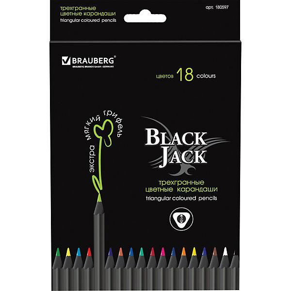 Цветные карандаши Black Jack, 18 цв., BraubergПисьменные принадлежности<br>В наборе 18 трехгранных карандашей премиум-качества. Корпус матового темного цвета изготовлен из черного дерева и снабжен высококачественным грифелем, яркость и необыкновенная гладкость которого отвечают требованиям самых взыскательных покупателей.<br><br>Дополнительная информация: <br><br>- 18 цветов.<br>- Размер упаковки: 13х20х0,8 см.<br>- Вес в упаковке: 127 г.<br><br>Цветные карандаши Black Jack Brauberg, можно купить в нашем магазине.<br><br>Ширина мм: 130<br>Глубина мм: 200<br>Высота мм: 8<br>Вес г: 127<br>Возраст от месяцев: 72<br>Возраст до месяцев: 2147483647<br>Пол: Унисекс<br>Возраст: Детский<br>SKU: 4792666