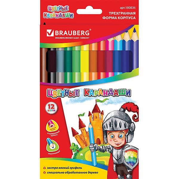 Цветные карандаши 12 цв., BraubergЦветные<br>Мягкий, равномерно красящий грифель изготовлен с использованием натуральных красителей. Рисунок ляжет на бумагу густо, сплошной четкой линией. Увеличенный трехгранный корпус карандаша удобен для юных художников.<br><br>Дополнительная информация:<br><br>- 12 цветов.<br>- Диаметр грифеля - 5 мм.<br>- Высокосортная древесина.<br>- Увеличенный трегранный корпус.<br>- Легко затачиваются.<br>- Размер упаковки: 17,8х0,8х11,3 см.<br>- Вес в упаковке: 140 г.<br><br>Цветные карандаши  Brauberg можно купить в нашем магазине.<br>Ширина мм: 178; Глубина мм: 8; Высота мм: 113; Вес г: 140; Возраст от месяцев: 72; Возраст до месяцев: 2147483647; Пол: Унисекс; Возраст: Детский; SKU: 4792670;