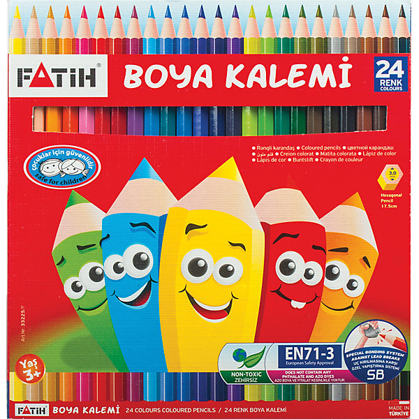 Цветные карандаши, 24 цв., PensanПисьменные принадлежности<br>В наборе 24 карандаша ярких и сочных цветов. Для их производства использовалась качественная древесина, которая гарантирует сохранность мягкого грифеля и легкую заточку.<br><br>Дополнительная информация: <br><br>- 24 цвета.<br>- Шестигранный корпус.<br>- Высокосортная древесина.<br>- Легко затачиваются.<br>- Размер упаковки: 0,8х17х18  см.<br>- Вес в упаковке: 4 г.<br><br>Цветные карандаши Pensan  можно купить в нашем магазине.<br>Ширина мм: 8; Глубина мм: 170; Высота мм: 180; Вес г: 40; Возраст от месяцев: 72; Возраст до месяцев: 2147483647; Пол: Унисекс; Возраст: Детский; SKU: 4792675;