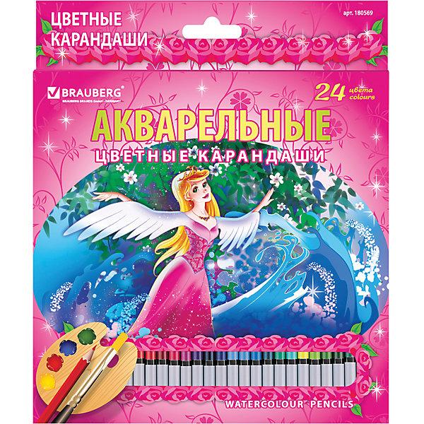 Цветные карандаши акварельные Rose Angel, 24 цв., BraubergЦветные<br>В наборе 24 цветных акварельных карандаша. Высокое качество грифеля с абсолютной чистотой цвета гарантирует равномерную насыщенность по всей поверхности и 100% растворимость грифеля в воде.<br>Порадуйте своего ребенка замечательным подарком!<br><br>Дополнительная информация:<br><br>- 24 цвета.<br>- Грифель высокого качества, диаметр - 3 мм.<br>- Акварельные.<br>- Высокосортная древесина.<br>- Легко затачиваются.<br>- Легко размываются влажной кистью.<br>- Размер упаковки: 20х18х0,8 см. <br>- Вес в упаковке: 182  г.<br><br>Цветные карандаши Rose Angel Brauberg можно купить в нашем магазине.<br>Ширина мм: 200; Глубина мм: 180; Высота мм: 8; Вес г: 182; Возраст от месяцев: 72; Возраст до месяцев: 2147483647; Пол: Унисекс; Возраст: Детский; SKU: 4792678;
