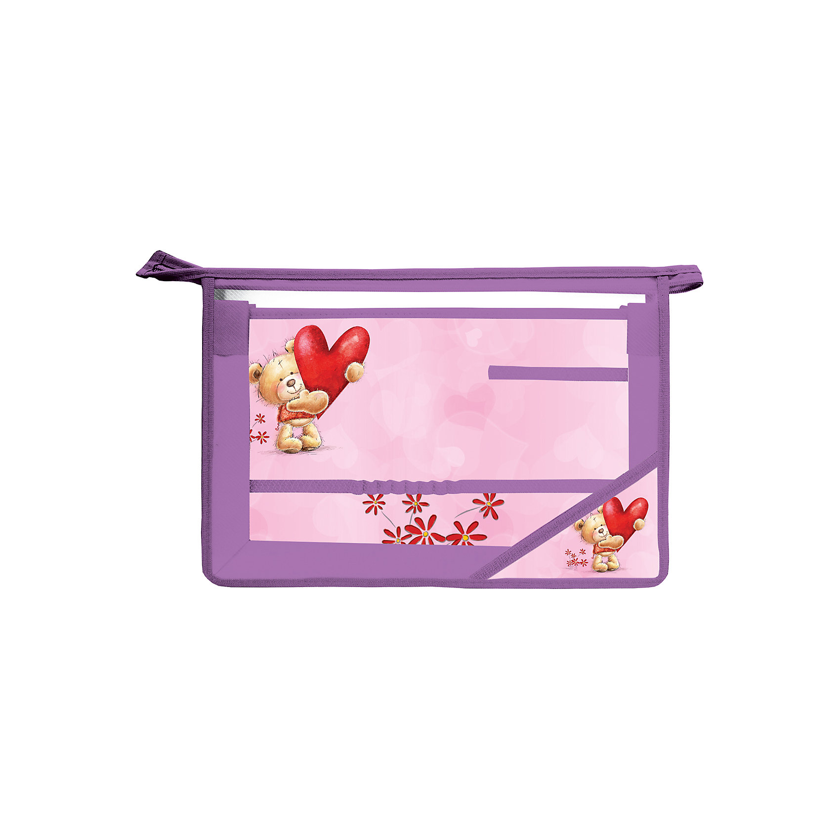 Папка для труда Медвежонок, А4Папка для труда предназначена для девочек. Дизайн выполнен в нежных сиренево-розовых цветах и дополнен изображением забавного медвежонка.<br>Изготовлена из прочного пластика.<br><br>Дополнительная информация: <br><br>- Формат А4 (330х230 мм).<br>- 1 отделение.<br>- Материал-полипропилен.<br>- Вкладыш для принадлежностей.<br>- Застежка-молния по верхнему краю папки.<br>- Материал уголка - ламинированный картон.<br>- Размер упаковки: 23,5х33х1,2 см.<br>- Вес в упаковке: 196 г. <br><br>Папку для труда Медвежонок можно купить в нашем магазине.<br><br>Ширина мм: 235<br>Глубина мм: 330<br>Высота мм: 12<br>Вес г: 196<br>Возраст от месяцев: 72<br>Возраст до месяцев: 2147483647<br>Пол: Унисекс<br>Возраст: Детский<br>SKU: 4792706