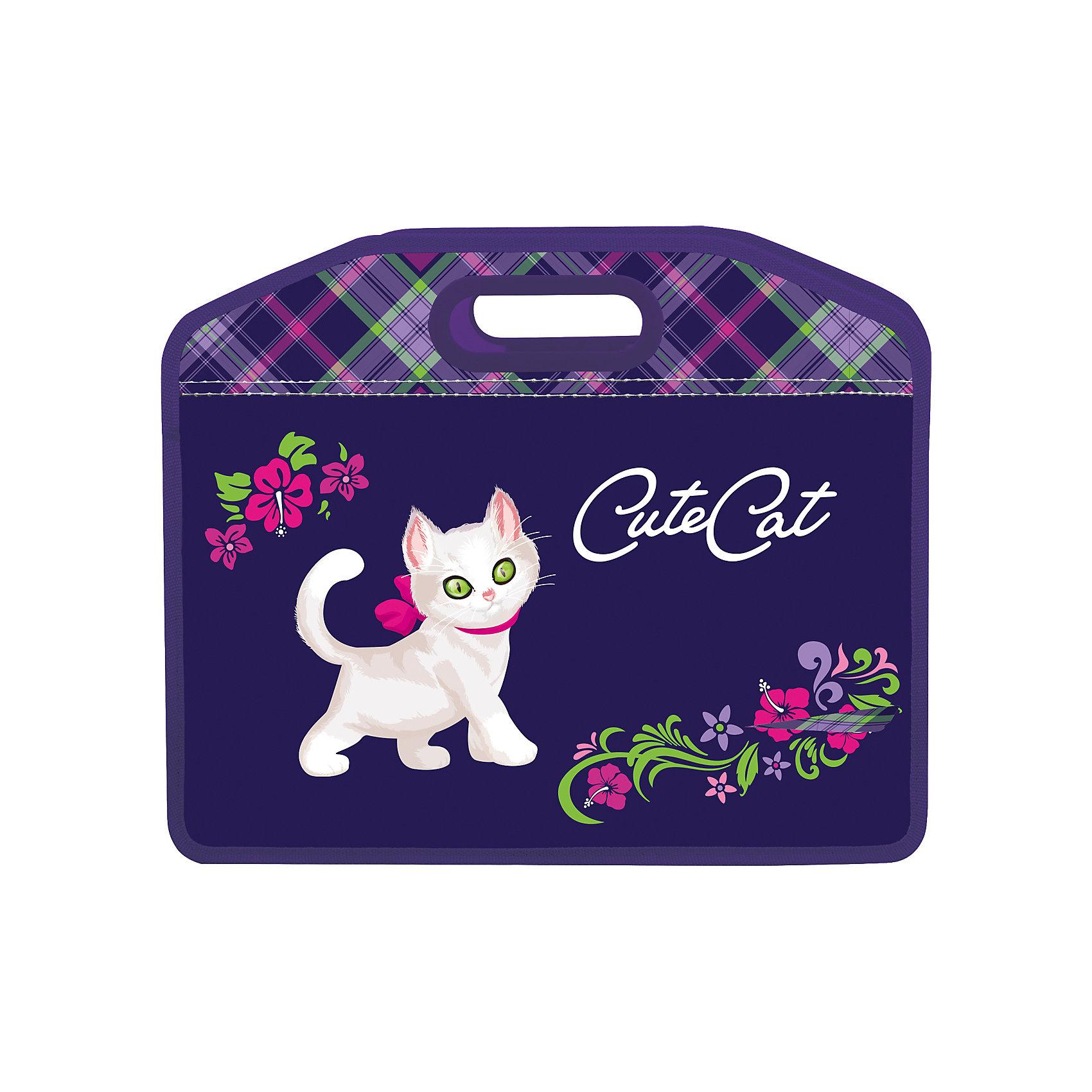 Папка-сумка Кошка, А4Сумка пластиковая предназначена специально для девочек. Дизайн выполнен в сиреневых и розовых цветах, дополнен клетчатым узором и цветочным принтом. Изображение котенка делает дизайн по-настоящему привлекательным.<br><br>Дополнительная информация: <br><br>- 1 отделение.<br>- Застегивается на молнию.<br>- Материал - полипропилен.<br>- Размер (ВхШхГ) - 37?10?30 см.<br>- Размер упаковки: 34х41х0,5 см.<br>- Вес в упаковке: 190 г.<br><br>Папку-сумку Кошка можно купить в нашем магазине.<br><br>Ширина мм: 340<br>Глубина мм: 410<br>Высота мм: 5<br>Вес г: 190<br>Возраст от месяцев: 72<br>Возраст до месяцев: 144<br>Пол: Женский<br>Возраст: Детский<br>SKU: 4792767